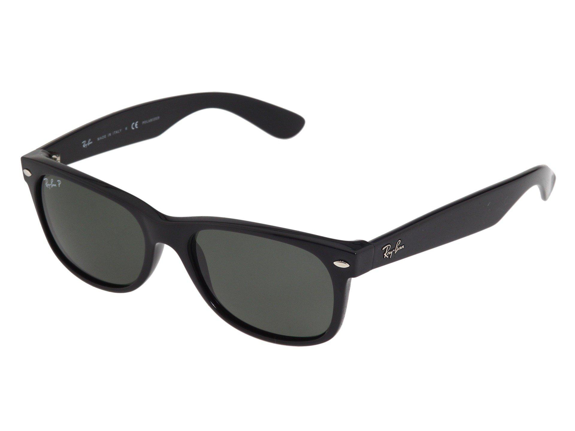 780a16a87a Ray-Ban. Women s Black Rb2132 New Wayfarer Polarized 55mm (tortoise crystal  Green Polarized Lens) Fashion Sunglasses