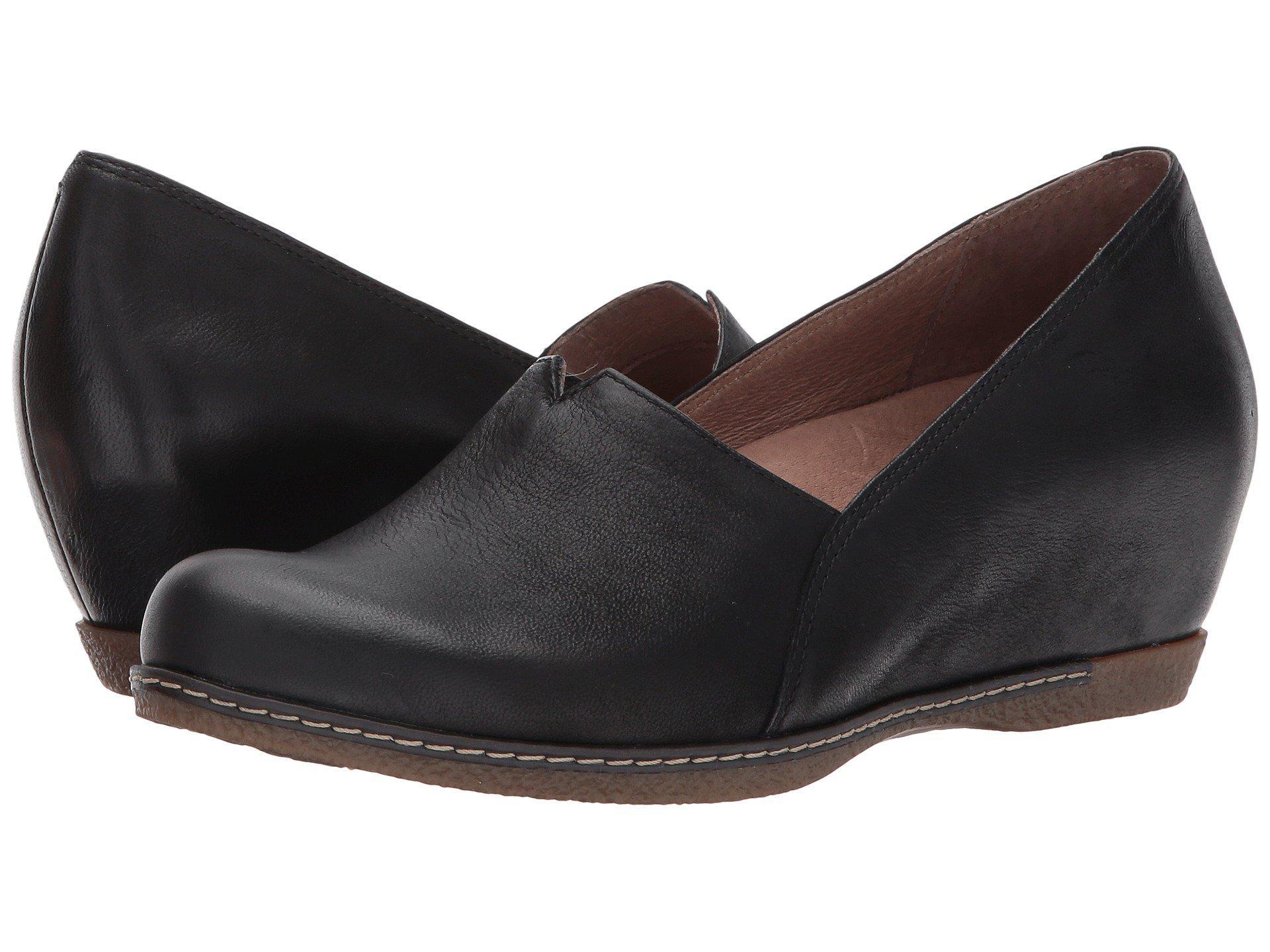 a0205d72404263 Lyst - Dansko Liliana (black Burnished Nubuck) Women s Shoes in Black