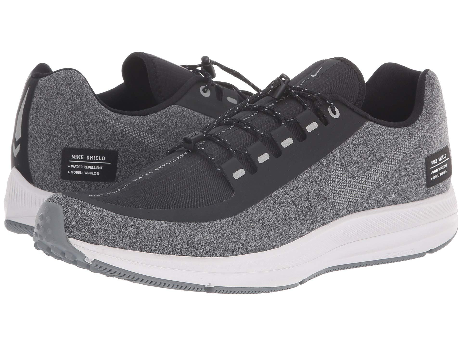 hot sale online e3ecf 8ecf1 Nike Air Zoom Winflo 5 Run Shield (black metallic Silver cool Grey ...