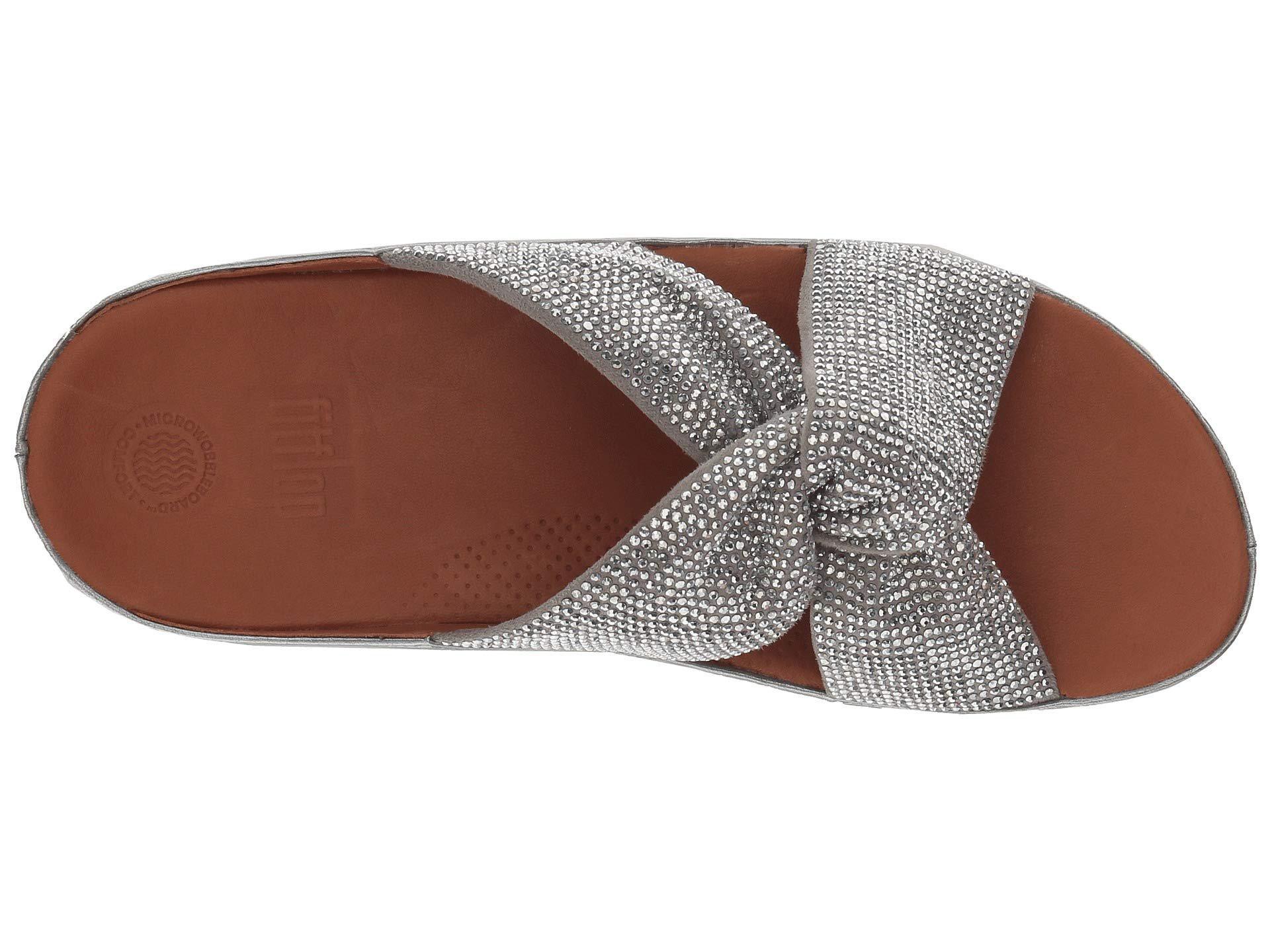 4ce337e96a79cd Fitflop - Metallic Twiss Crystal Slide (black) Women s Shoes - Lyst. View  fullscreen