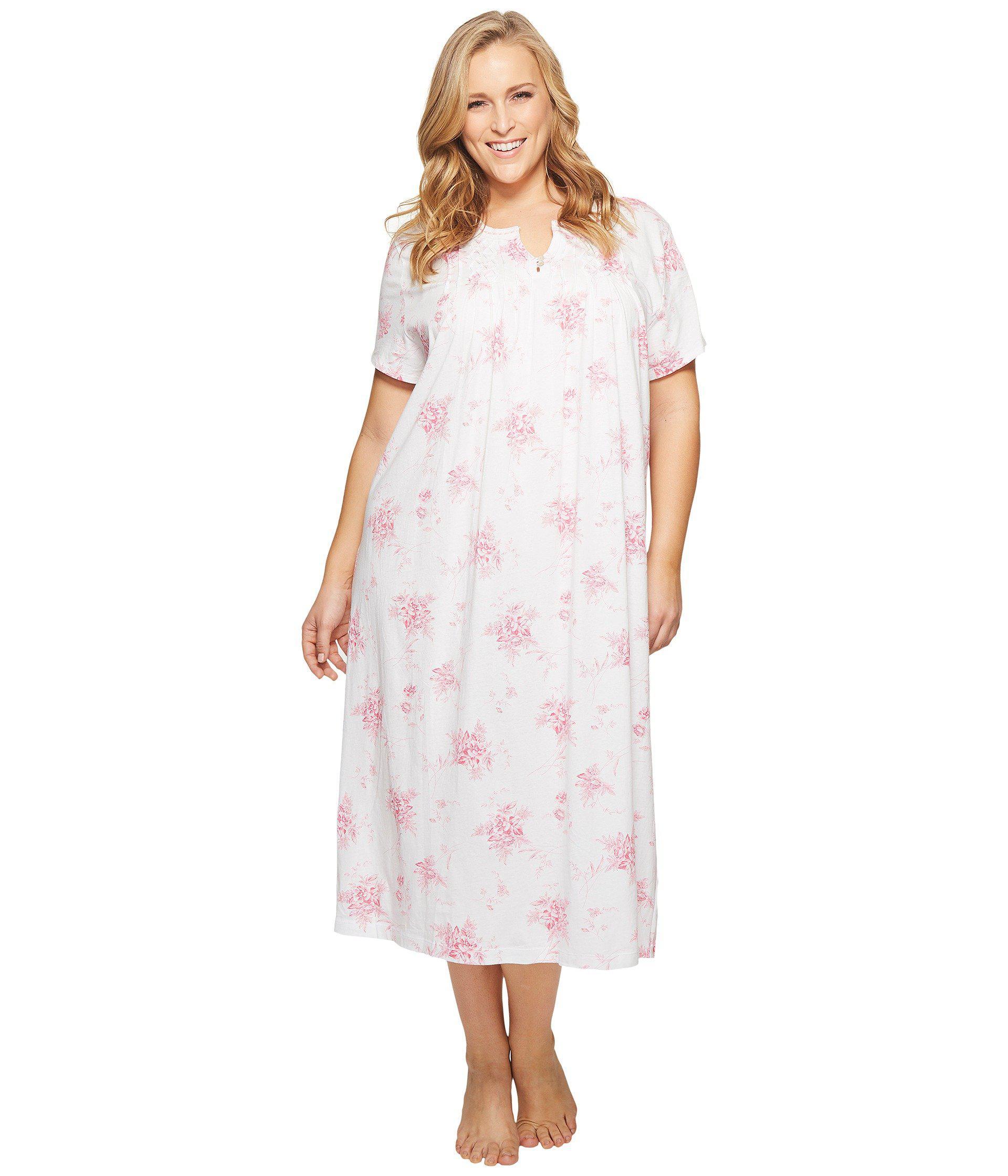 Lyst - Carole Hochman Plus Size Short Sleeve Long Gown
