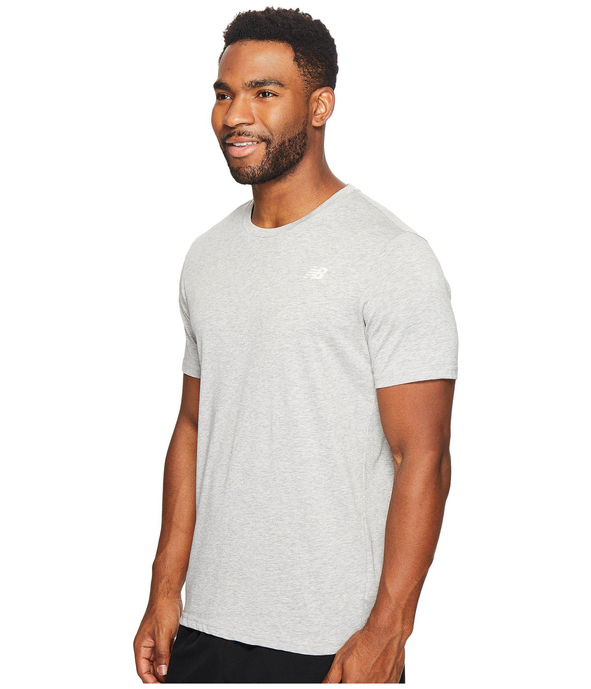 f6d04bdbcbde0 New Balance Heather Tech Short Sleeve (pigment) Men's T Shirt in Gray for  Men - Lyst