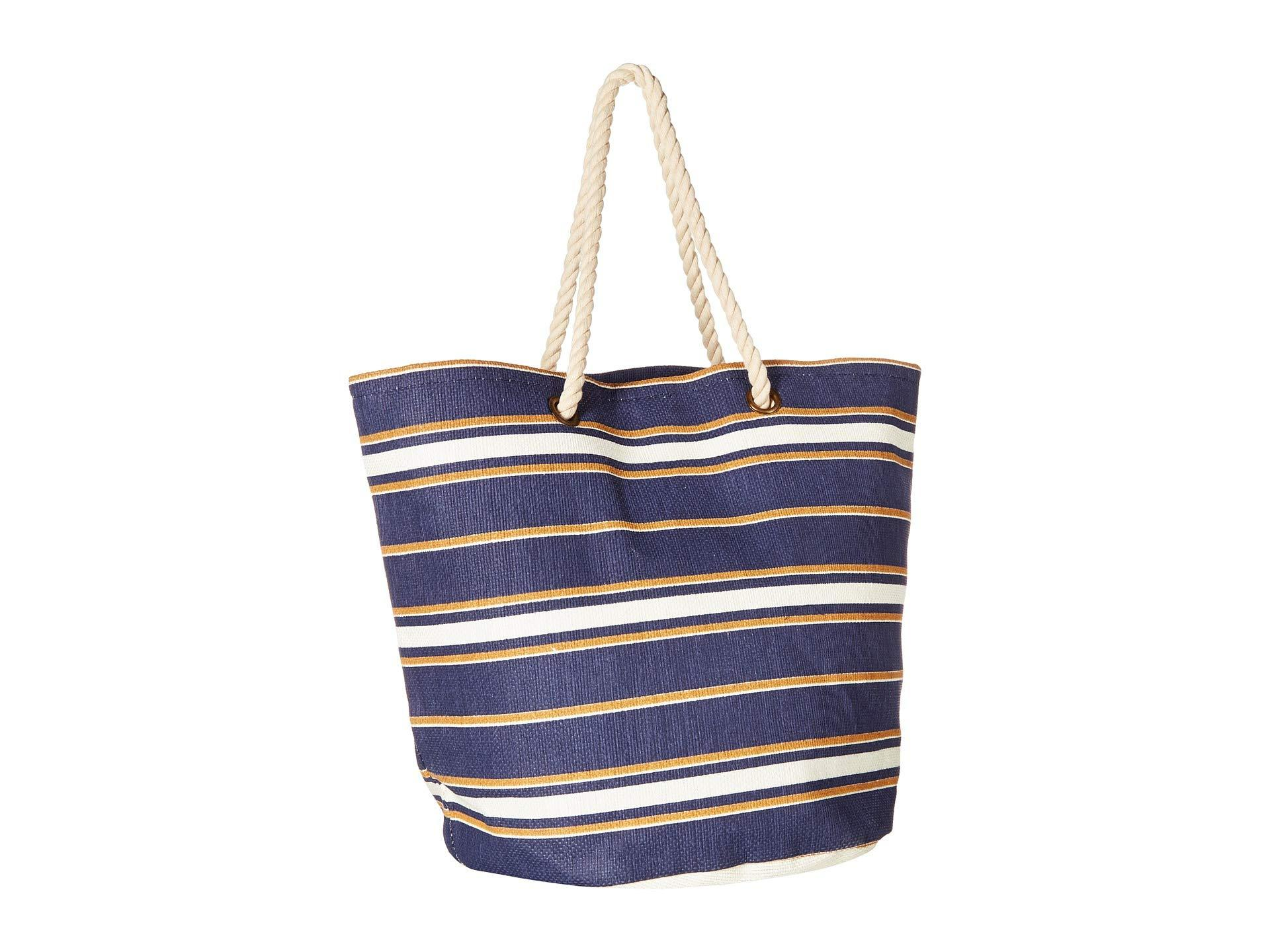 55cee2de1d74 Lyst - Roxy Sunseeker Tote (medival Blue macy Stripe Swim) Bags in Blue