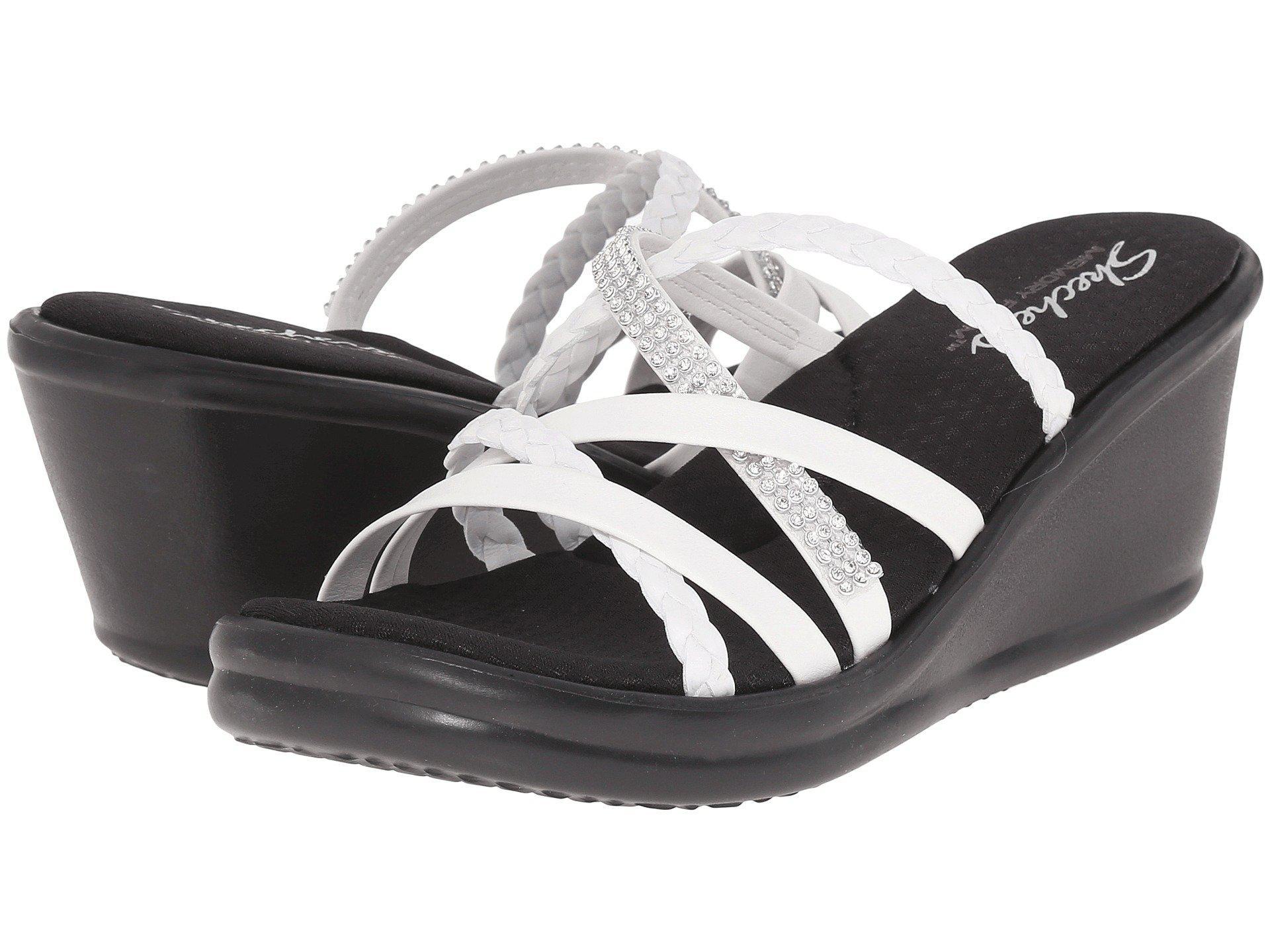c163e0dad696 Lyst - Skechers Rumblers - Wild Child (white) Women s Sandals in White