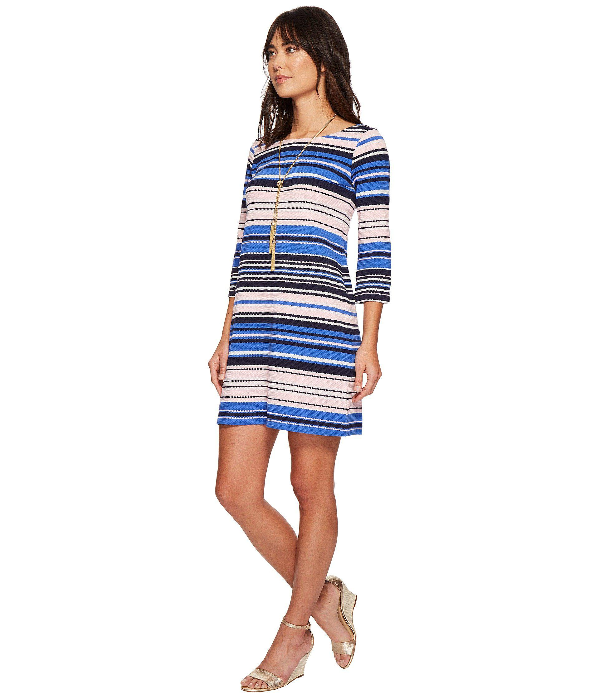 b5e146c81e Lyst - Lilly Pulitzer Bay Dress (paradise Pink The Swim Stripe) Women s  Dress in Blue - Save 55%