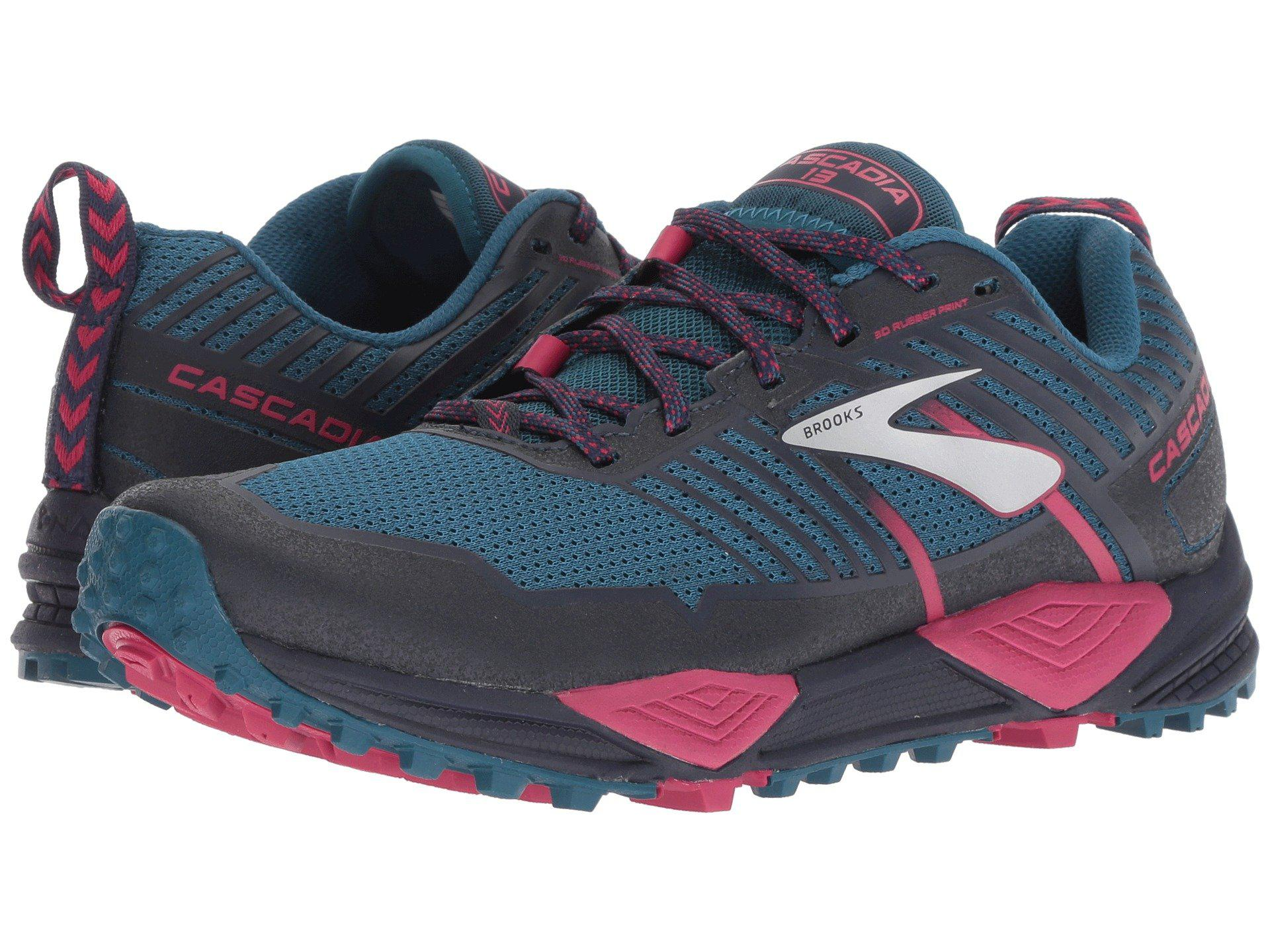 be2d43ae223 Brooks - Blue Cascadia 13 (ink navy pink) Women s Running Shoes -. View  fullscreen