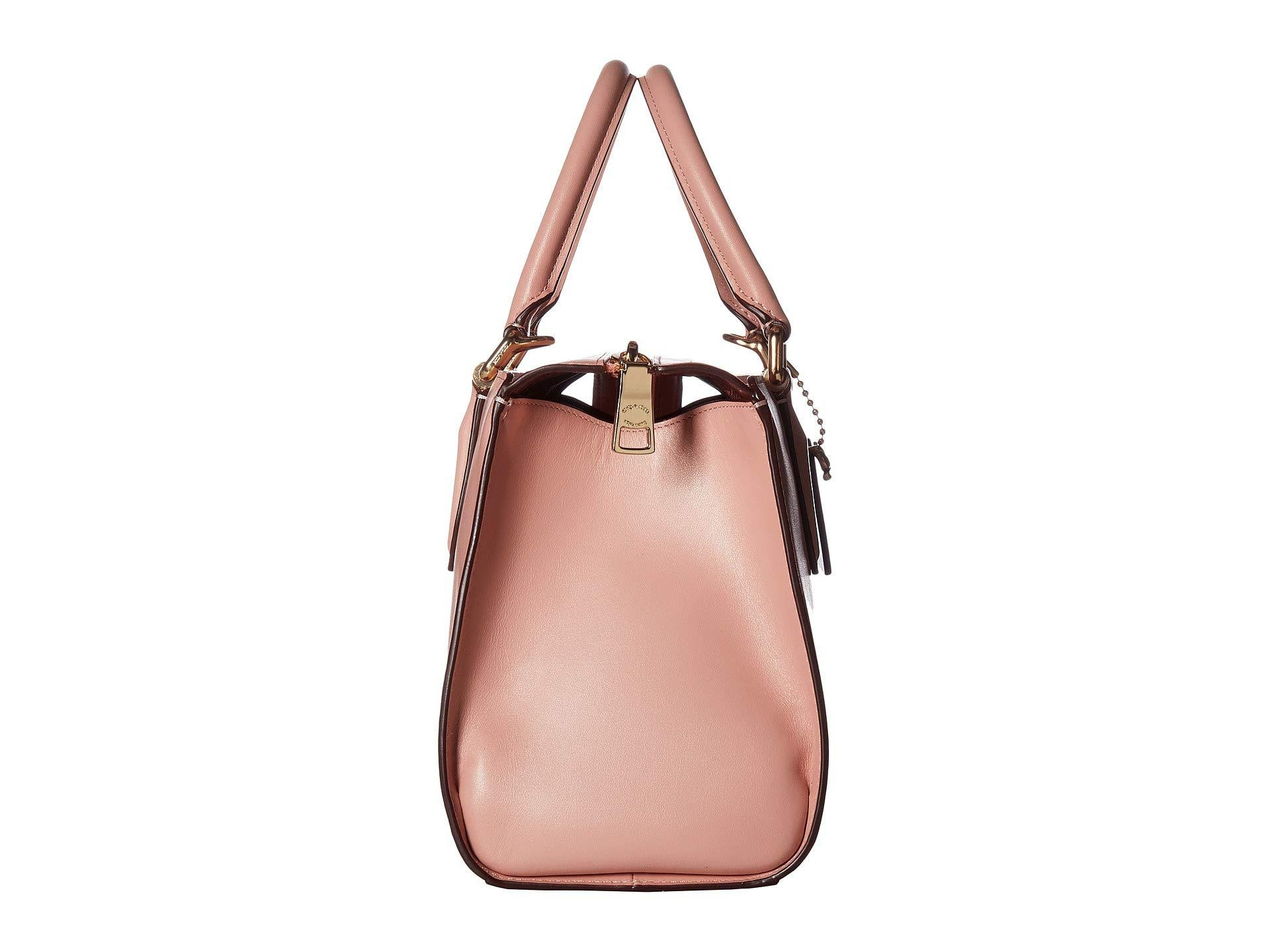 f3f91bc735 Lyst - COACH Refined Calf Leather Selena Bond Bag (gold peony ...