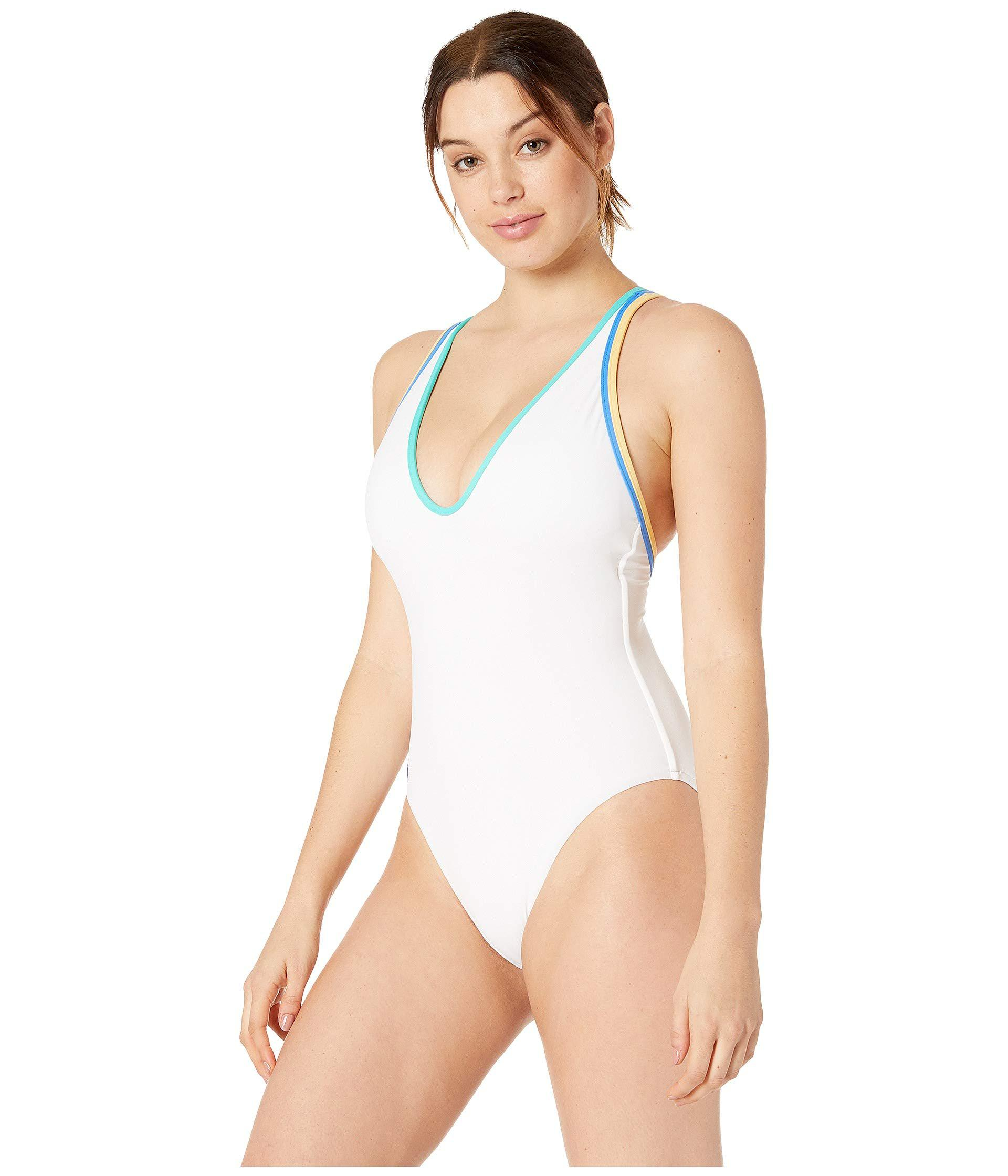 673fa977ec565 Lyst - Polo Ralph Lauren Double Binding Multi Strap One-piece (white) Women s  Swimsuits One Piece in White