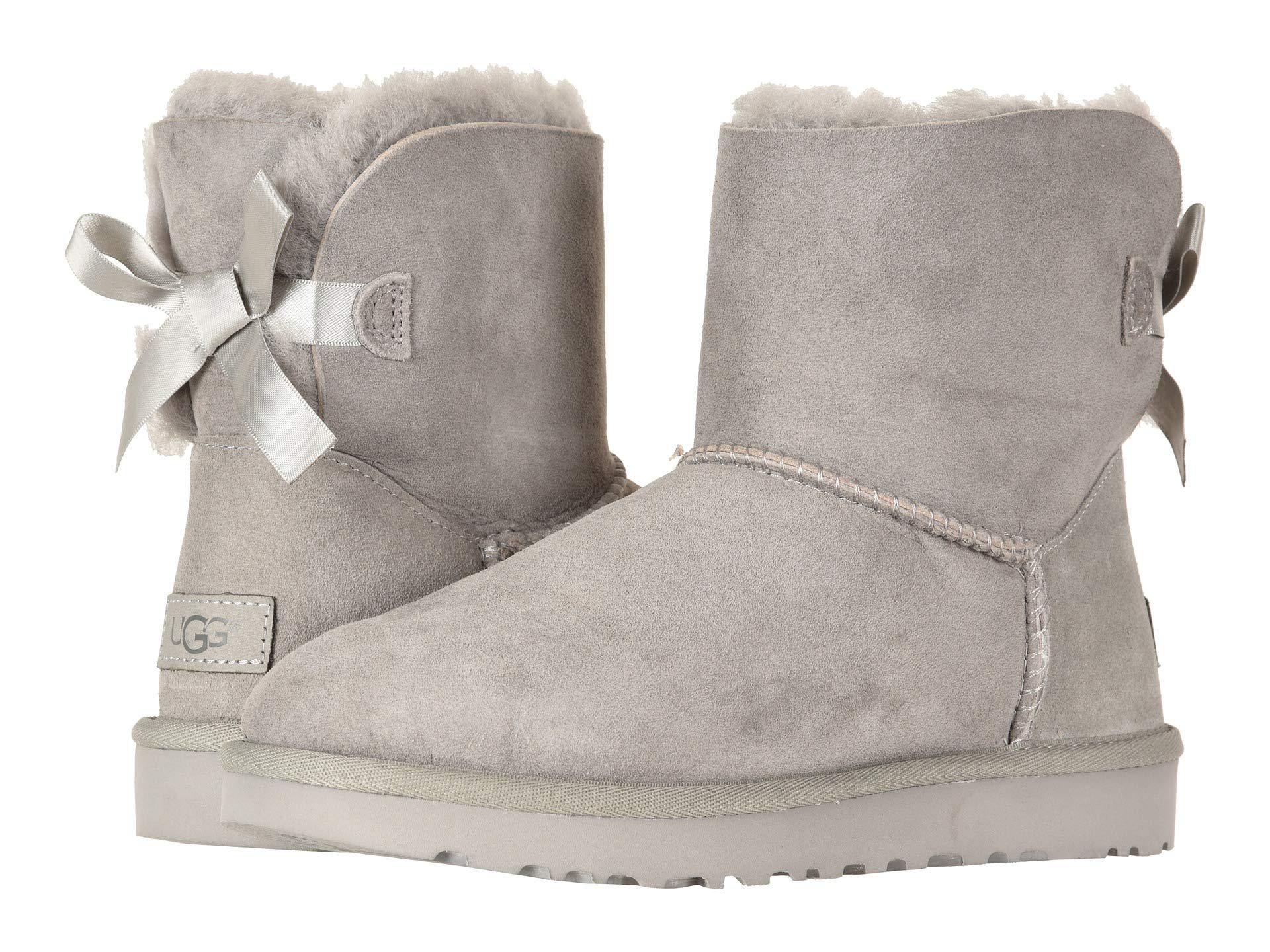 417790f4a3d7 Lyst - UGG Mini Bailey Bow Ii (antilope) Women s Boots in Gray