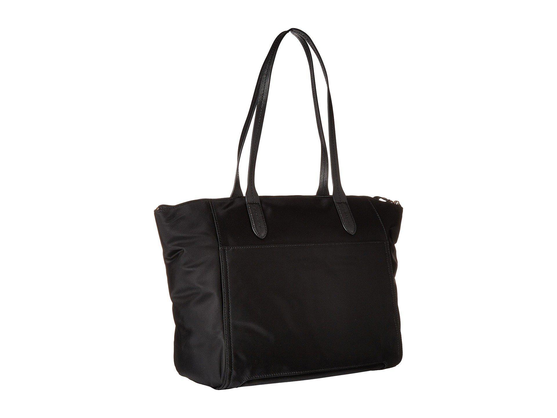 7d7c8a889037 MICHAEL Michael Kors - Nylon Kelsey Large Top Zip Tote (black) Tote Handbags  -. View fullscreen