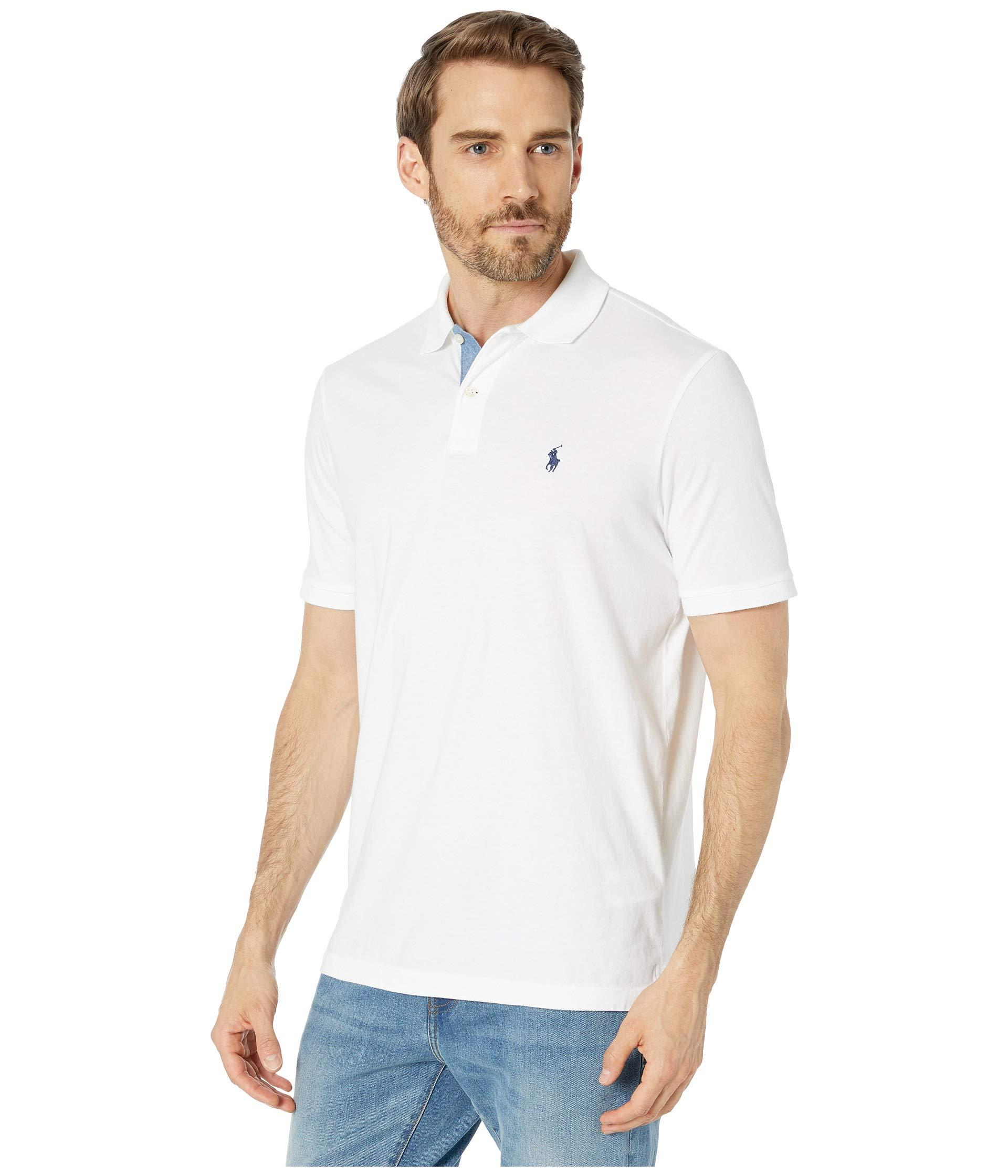 08fa22cb Polo Ralph Lauren Short Sleeve Jersey Polo - Classic (bayside Green) Men's  Clothing in White for Men - Lyst
