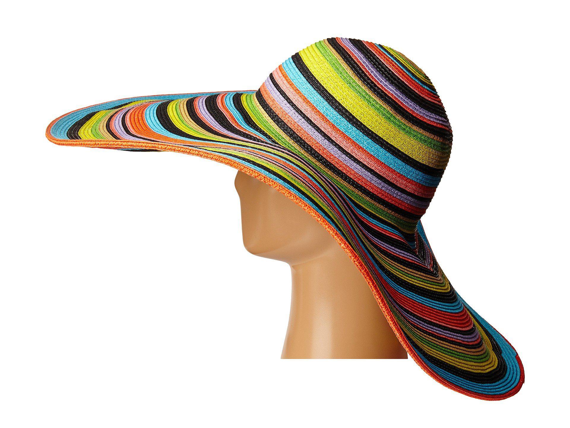 0c1fb204fe2f1 San Diego Hat Company - Ubx2721 Striped Floppy 8 Inch Brim Sun Hat (multi  Black. View fullscreen