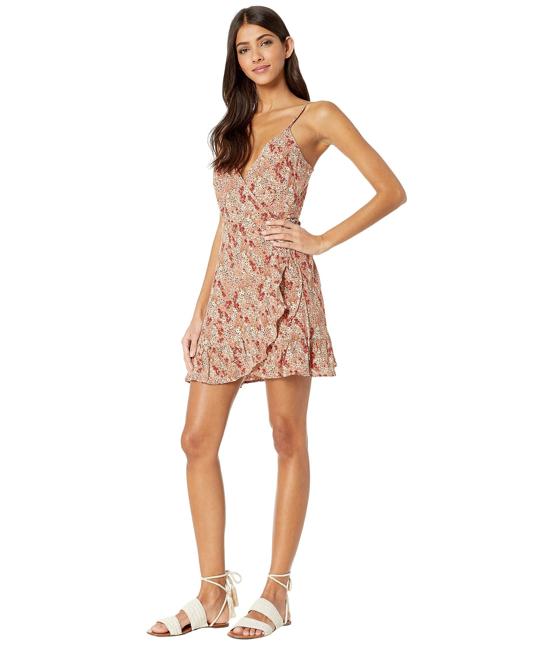 2540114bbe Lyst - Free People All My Love Printed Wrap Dress (ivory) Women s Dress in  White