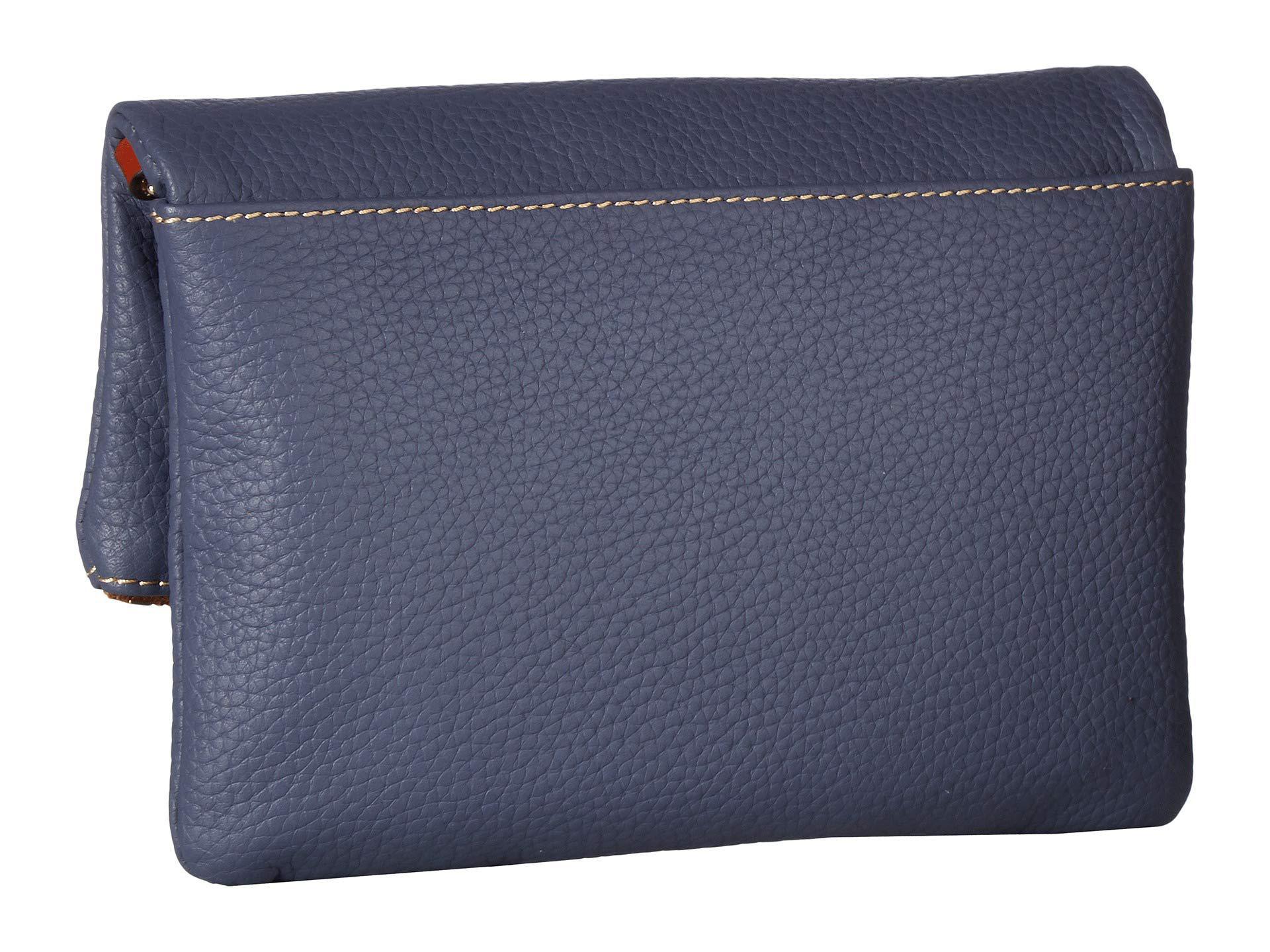 81590d8cb2 Dooney   Bourke - Pebble Fold-over Zip Crossbody (steel Blue tan Trim. View  fullscreen