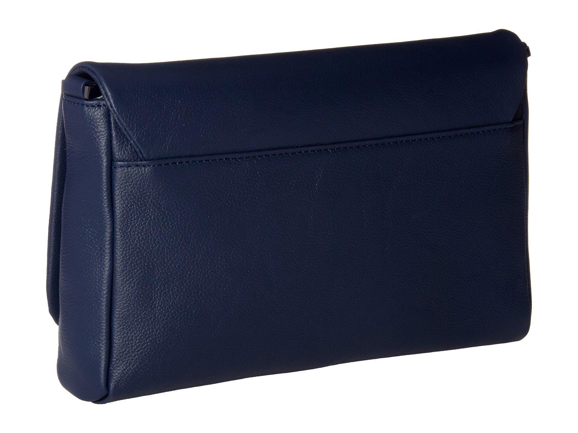 a4a3129b19 Lyst - Lipault Plume Elegance Leather Medium Clutch Bag (navy ...