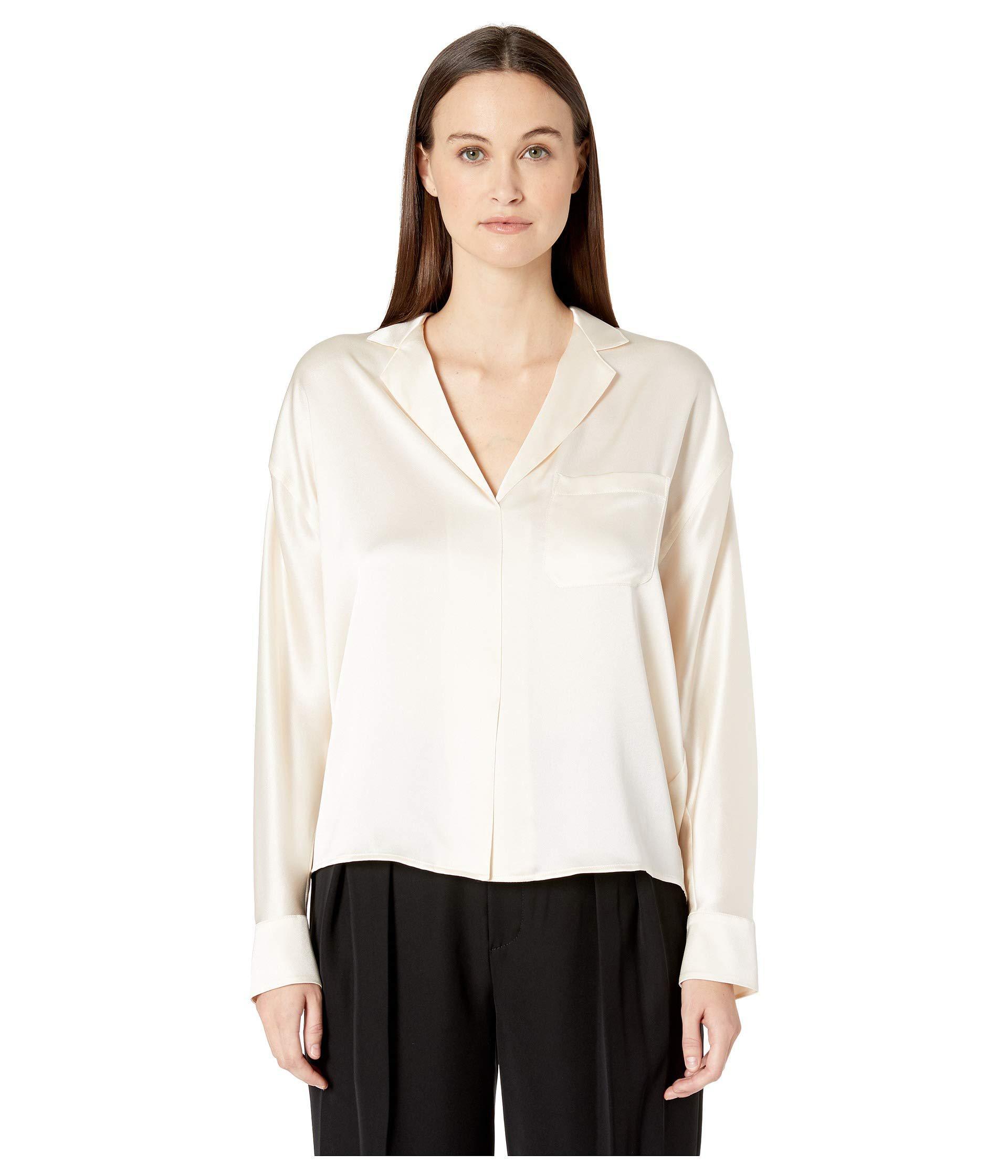 83ceec3e30840 Lyst - Vince Pajama Popover (chiffon) Women s Blouse in White