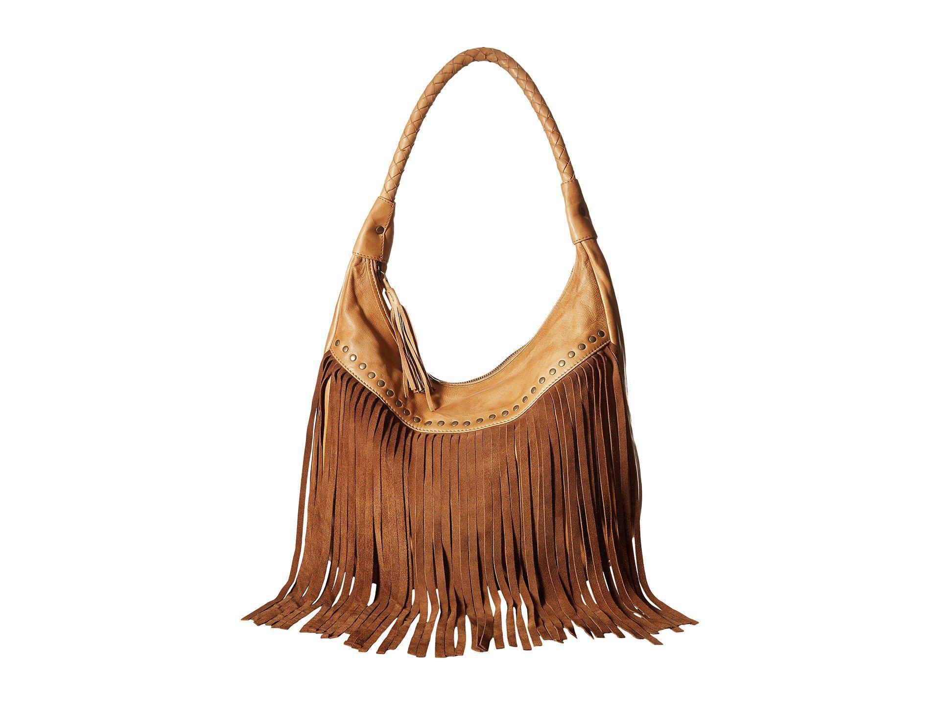Scully Brianne Fringe Purse (Brown) Handbags HIEktxXowx