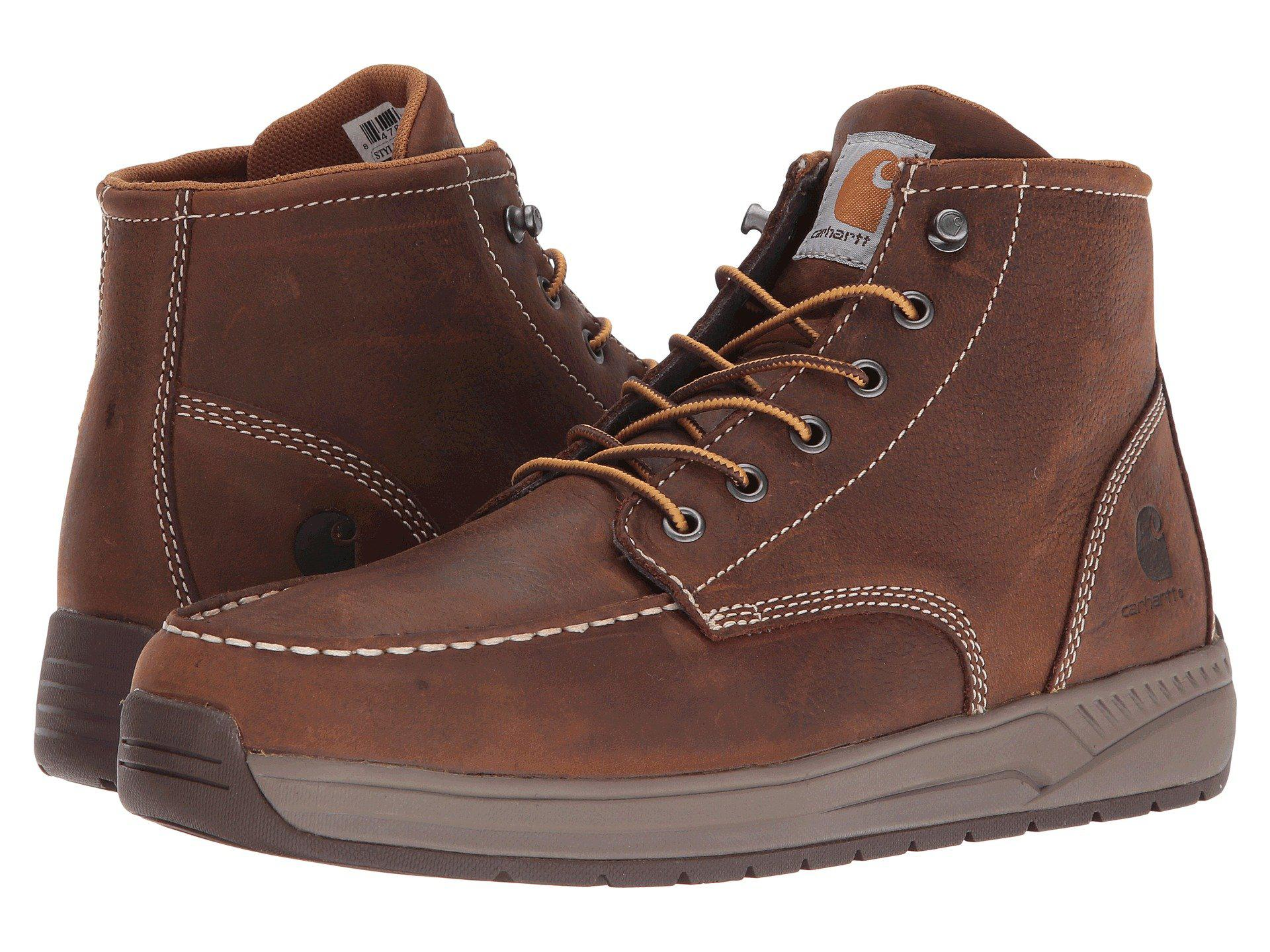 c95e69c6fe4 Lyst - Carhartt 4 Lightweight Wedge Boot (brown Oil Tanned Leather ...