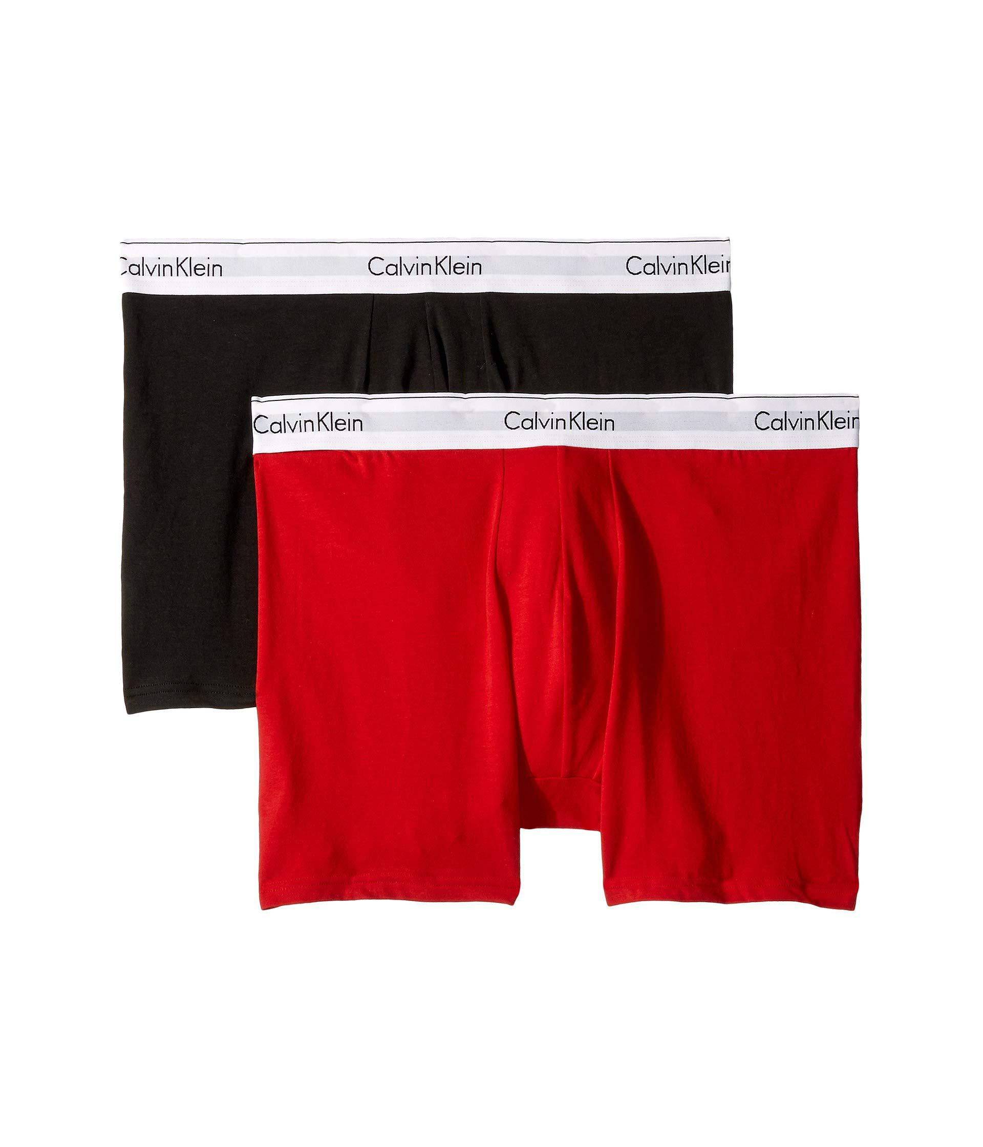 bafbde4fc4 Calvin Klein - Modern Cotton Stretch 2-pack Boxer Brief (manic Red black.  View fullscreen