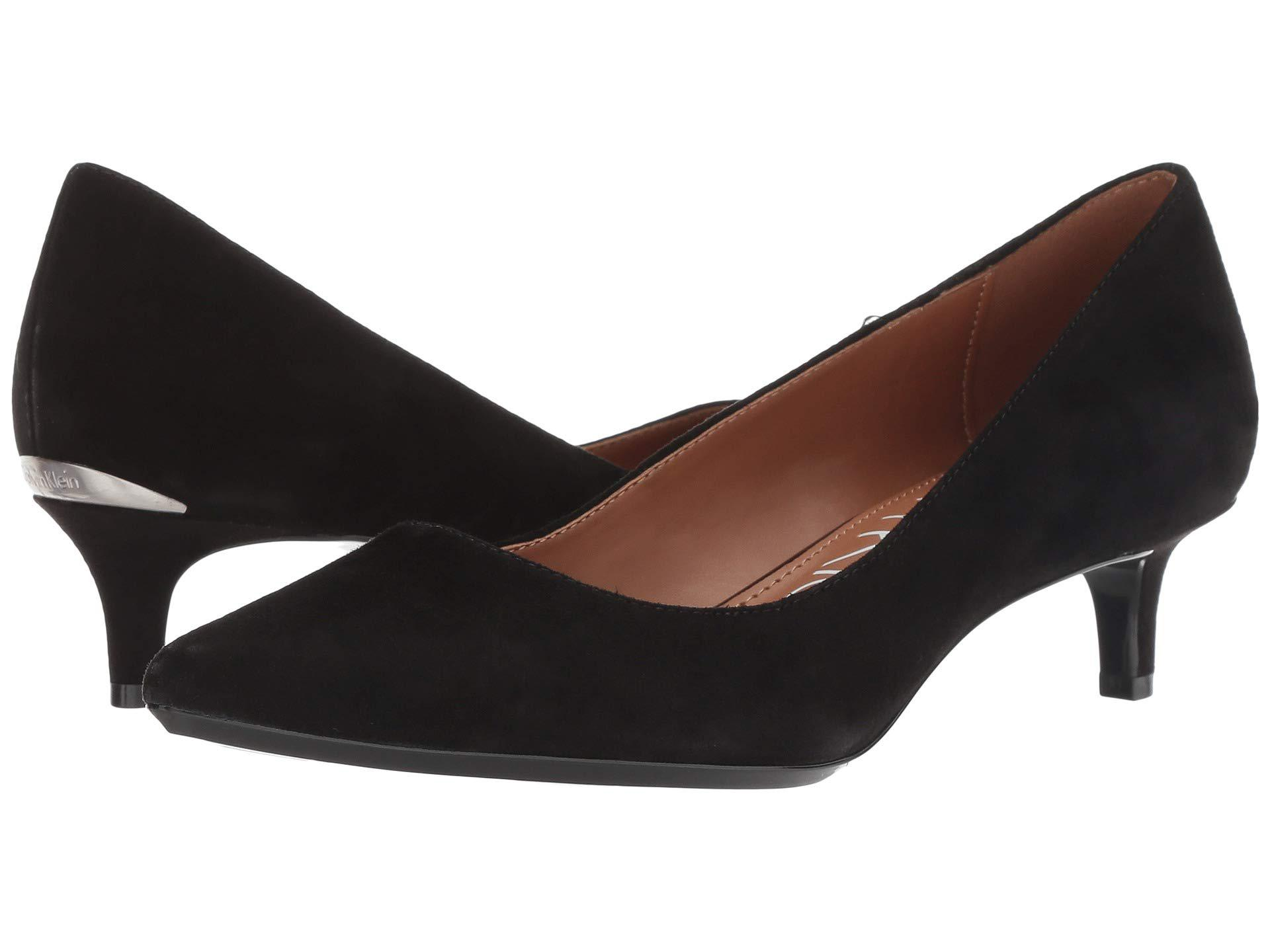 e142515a2329 Lyst - Calvin Klein Gabrianna Pump (black Suede leather) Women s 1-2 ...