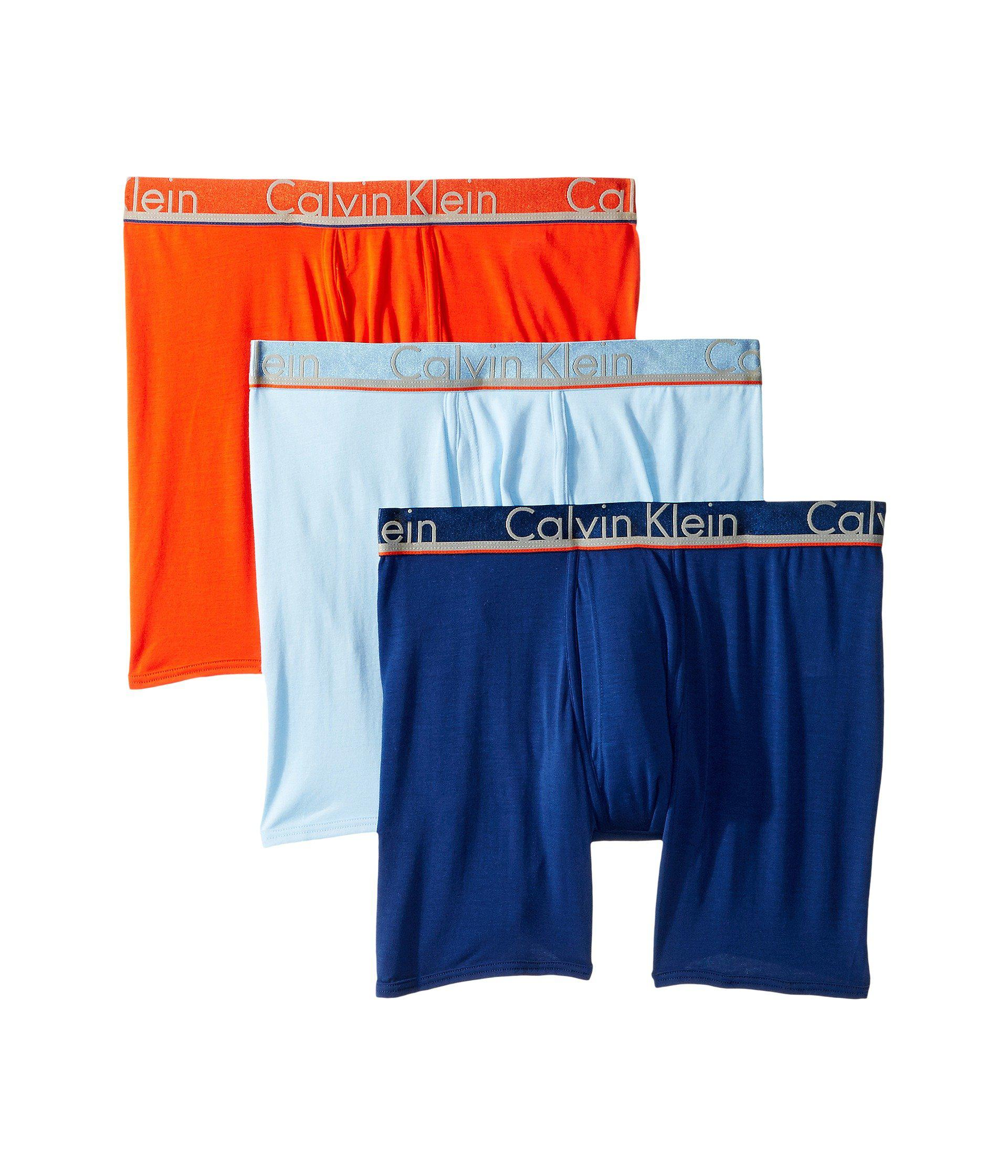 8e4361163259 Lyst - Calvin Klein Comfort Microfiber 3-pack Boxer Brief (black ...