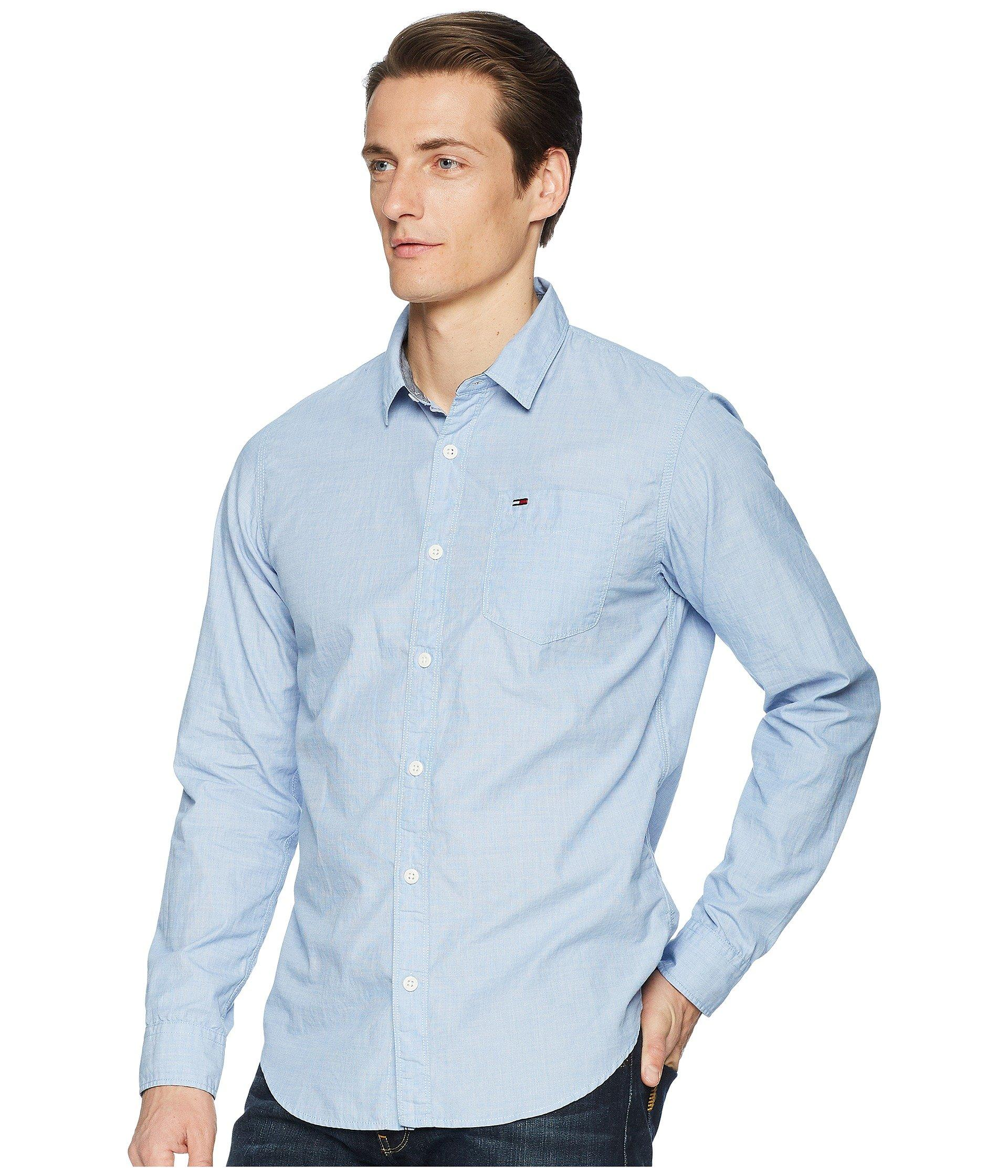 8ae78fe5c7f5 Lyst - Tommy Hilfiger End On End Button Down Shirt (classic White) Men s  Clothing in Blue for Men