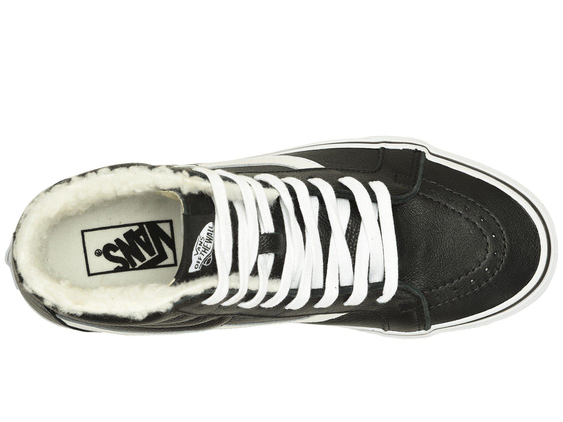 7dfee0c4ae Vans - Sk8-hi Reissue ((leather fleece) Black true White. View fullscreen