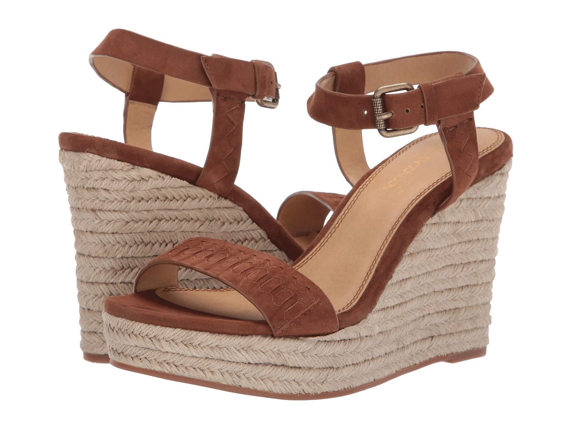 ff0b389692b Lyst - Splendid Shayla (chestnut Kid Suede) Women s Wedge Shoes in Brown