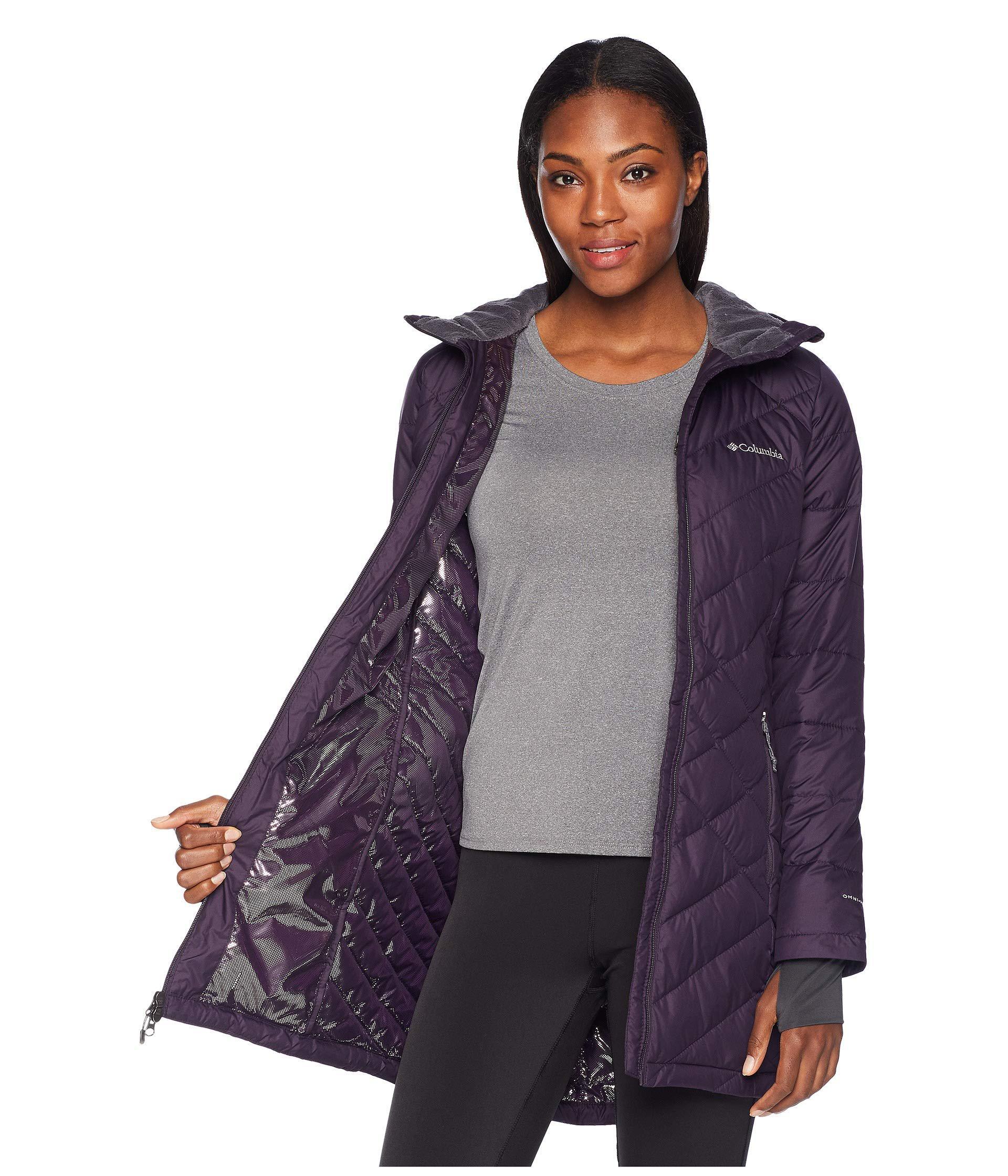1d363a7072f Columbia Heavenly Long Hooded Jacket (nocturnal) Women's Coat in ...