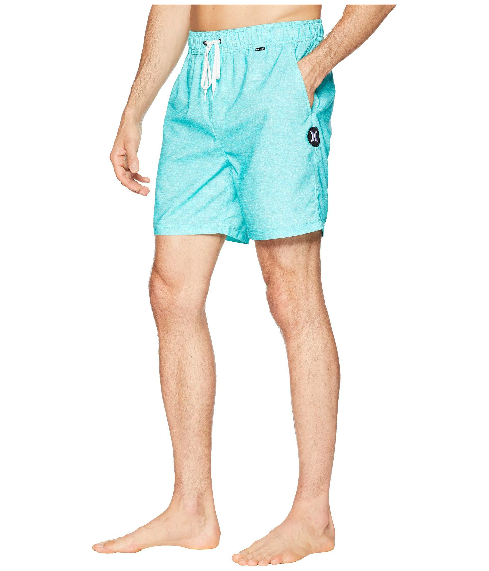 3c4c617ffaea9 Hurley Heather Volley Shorts 17 (aurora Green) Men's Swimwear in ...