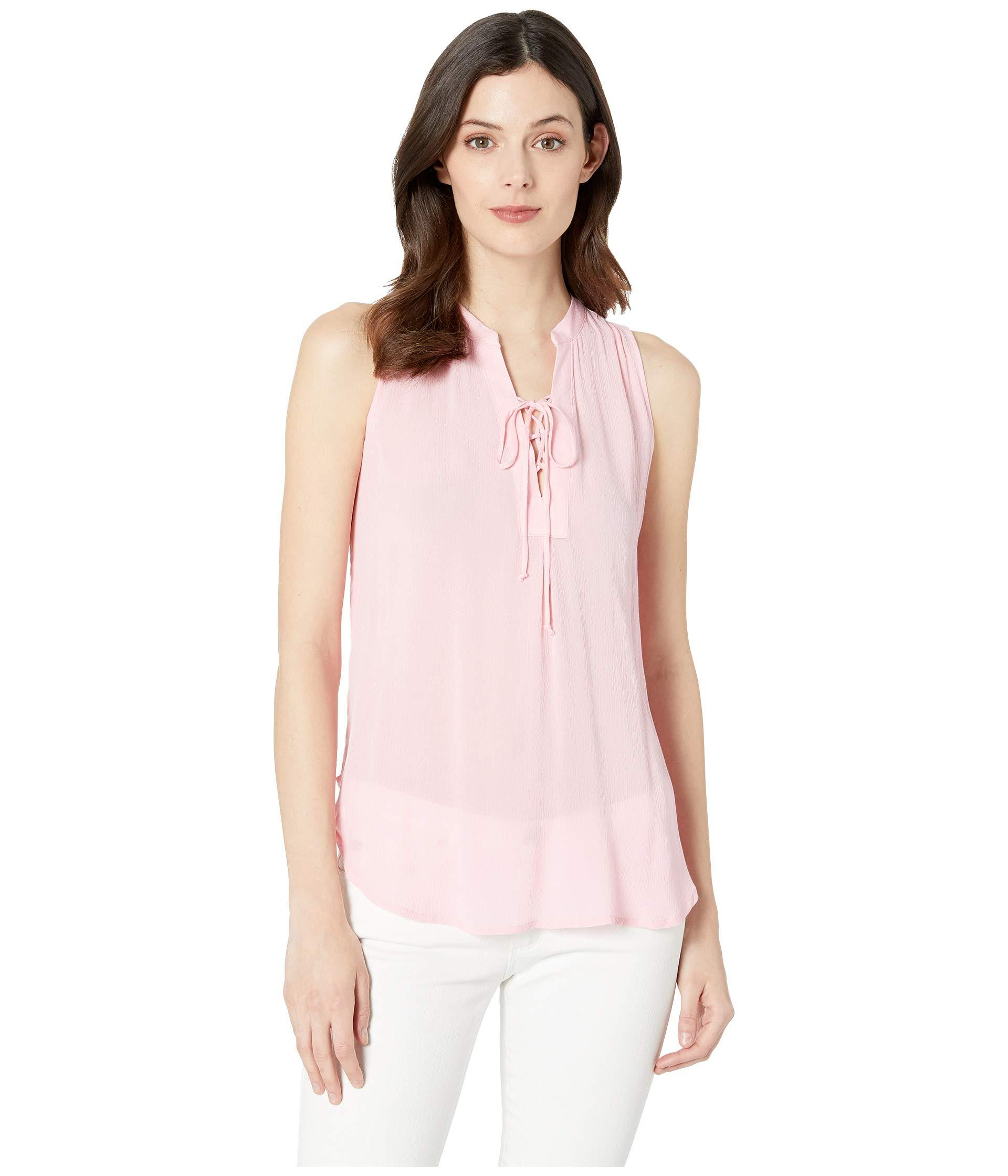 a77097778b6d2 Lyst - Stetson 2912 Textured Rayon Crepe Tank Top (pink) Women s ...
