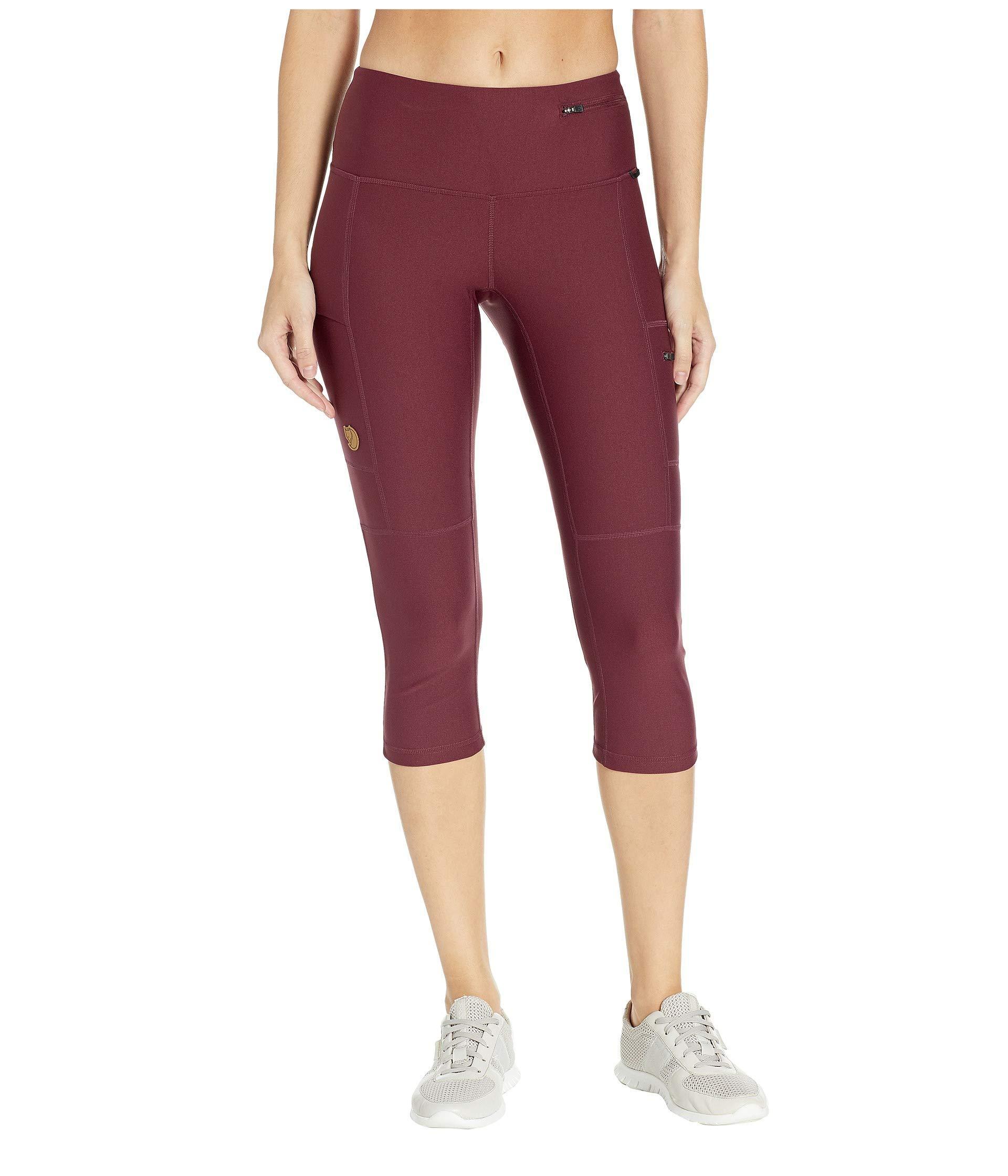 4b7431d788d6a Fjallraven Abisko Trek Tights 3/4 (dark Grey) Women's Workout in Red ...