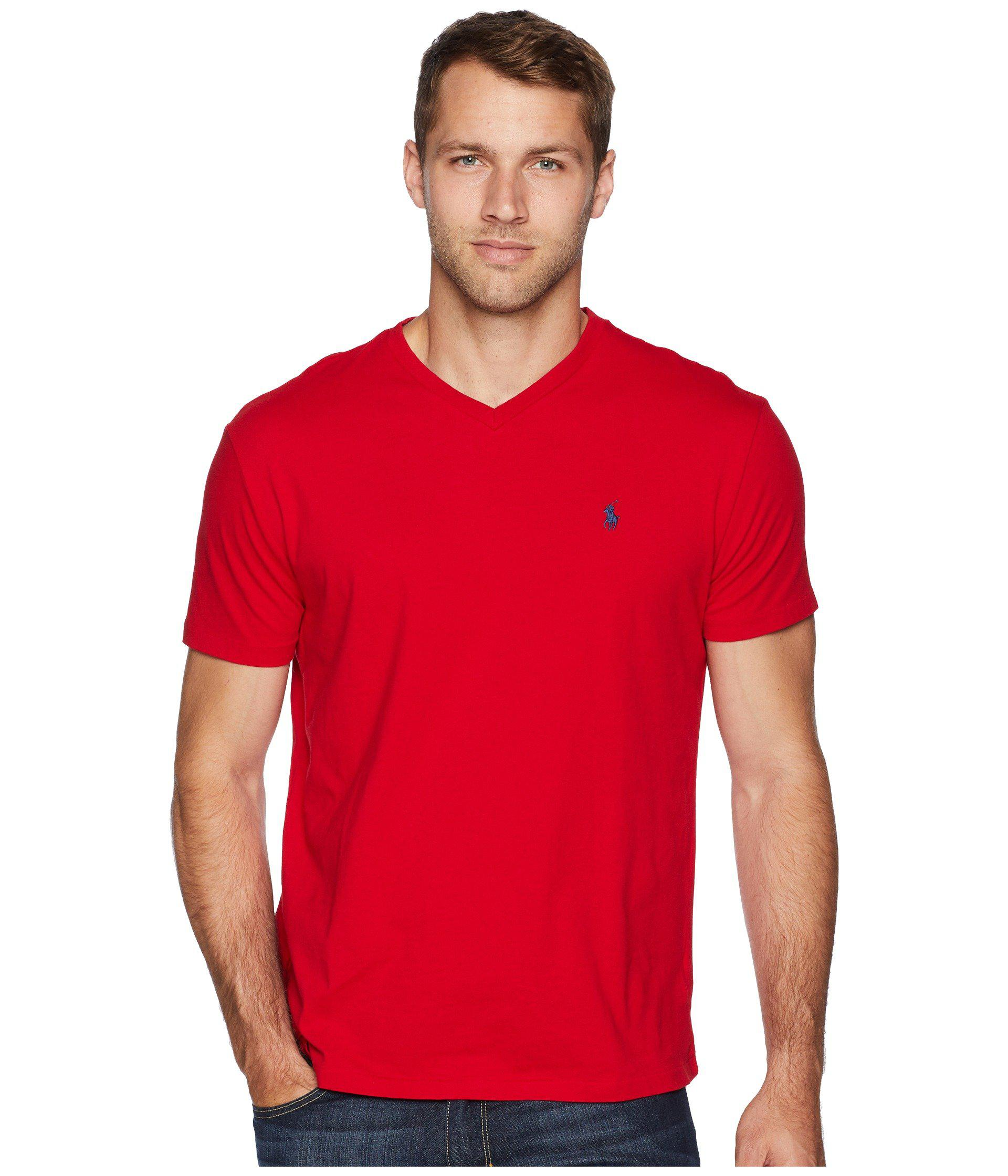 7abe29010 Lyst - Polo Ralph Lauren Classic V-neck T-shirt (ink) Men s T Shirt ...