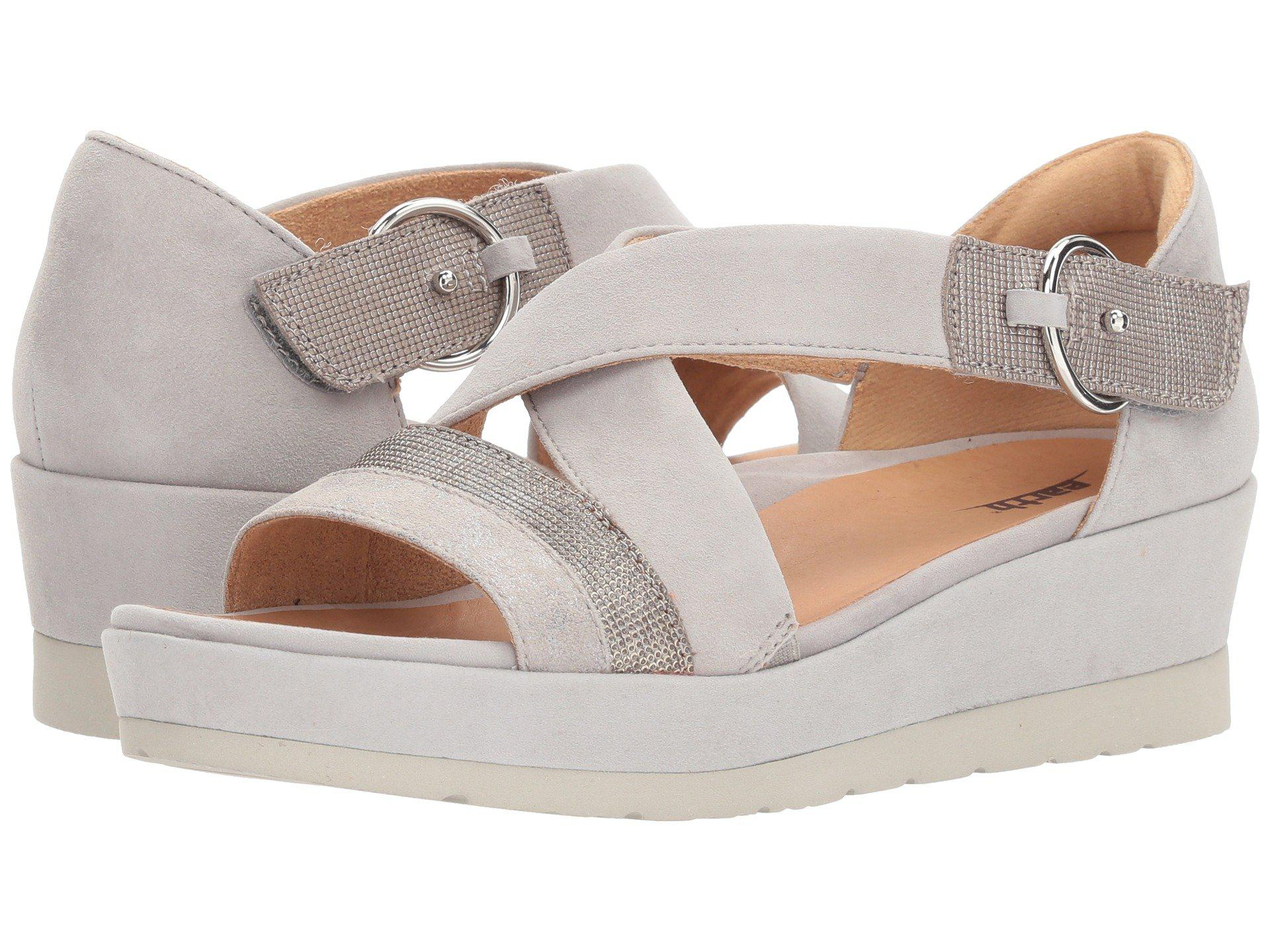 6f45be02c8 Lyst - Earth Hibiscus (light Grey Metallic Suede) Women's Shoes in Gray