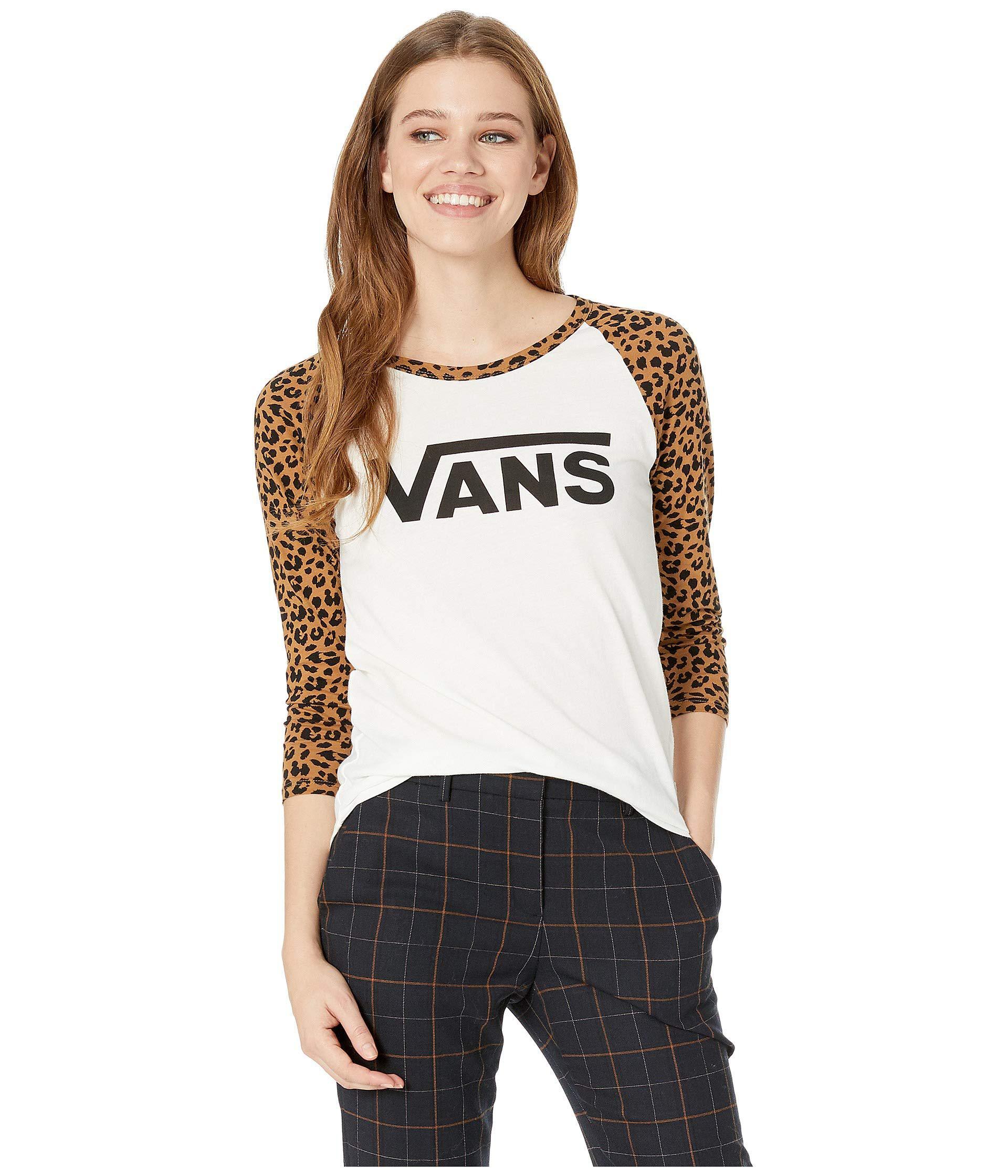 2c4f9fe8765 Lyst - Vans Prowling Tee (marshmallow leopard) Women s T Shirt in White