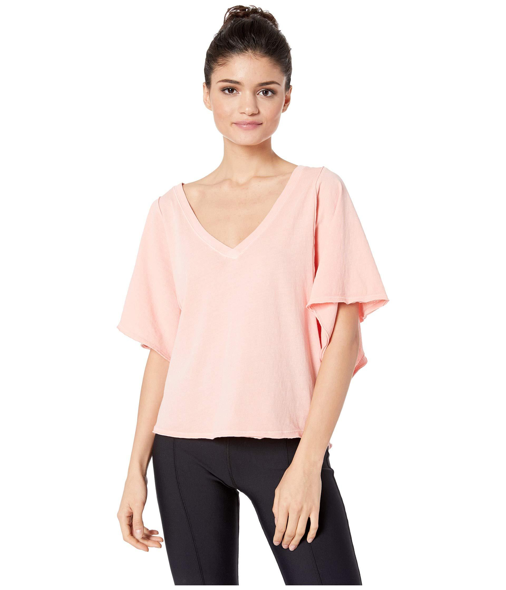 114a43c59d61d Lyst - Free People Artemis Tee (coral) Women s Clothing in Pink