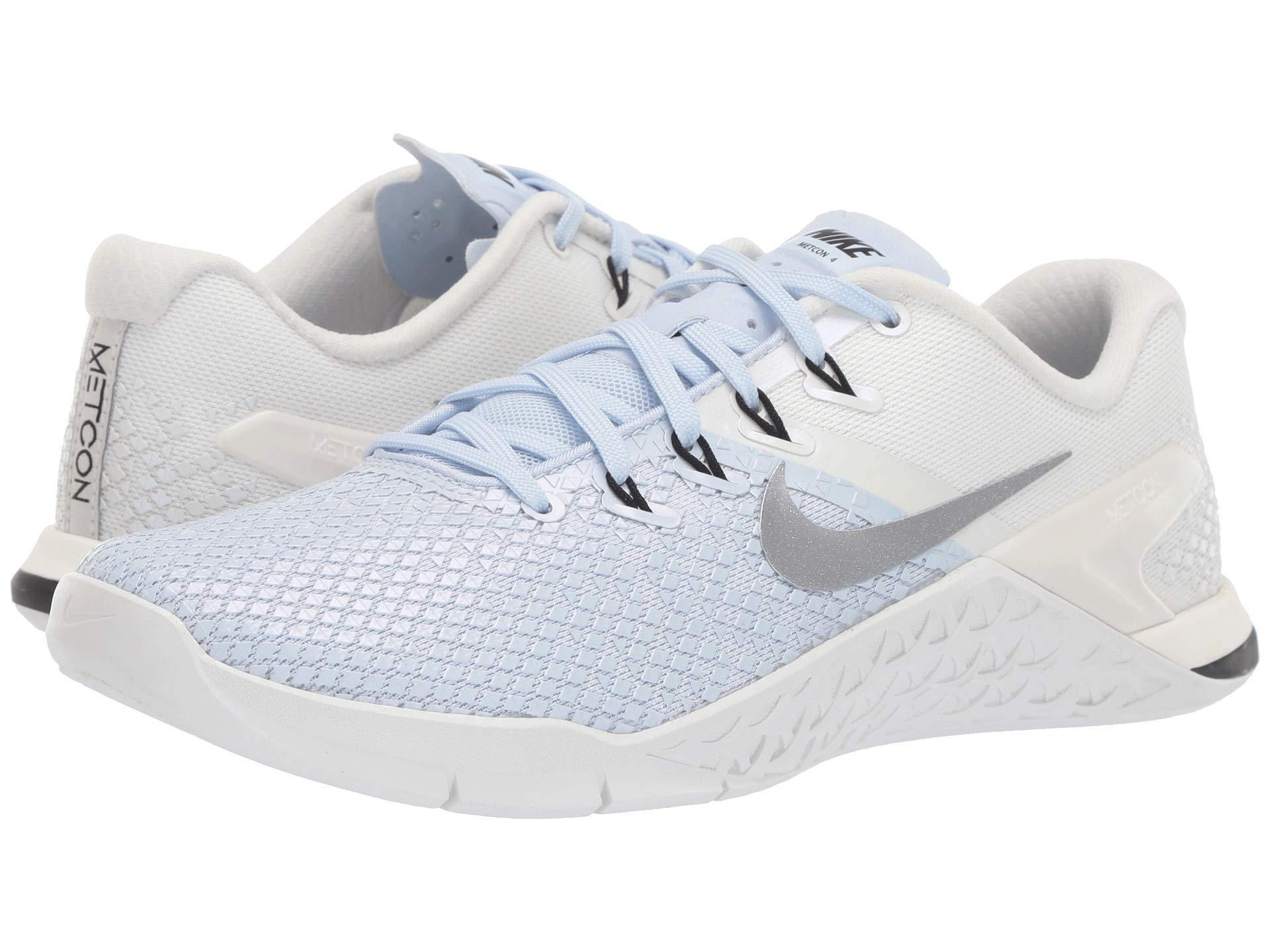 Nike. Metcon 4 Xd Metallic (half Blue metallic Silver sail black) Women s  Cross Training Shoes 39f981573