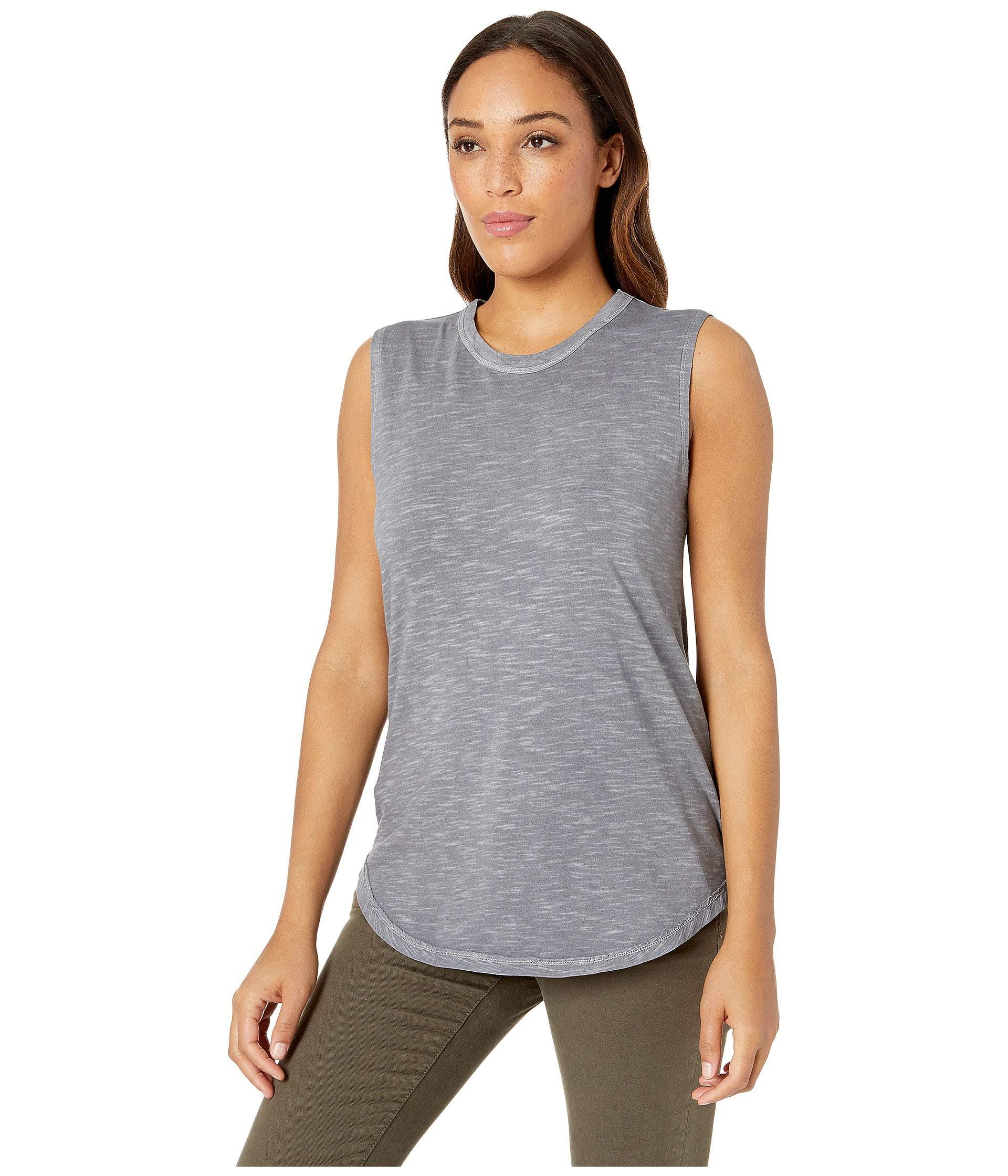 f8cc4f7a837ccd Lyst - Alternative Apparel Washed Slub Inside Out Sleeveless Tee in Gray