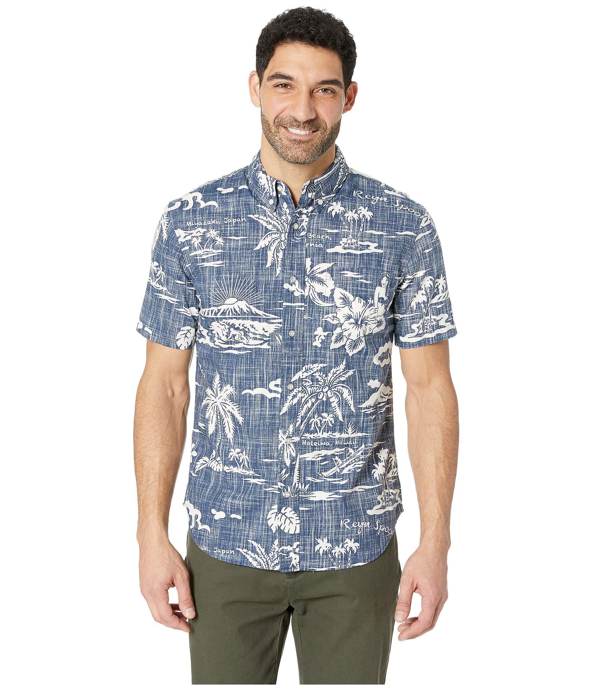 b6607291087 Lyst - Reyn Spooner My Private Isle Tailored Aloha Shirt (ink) Men s ...