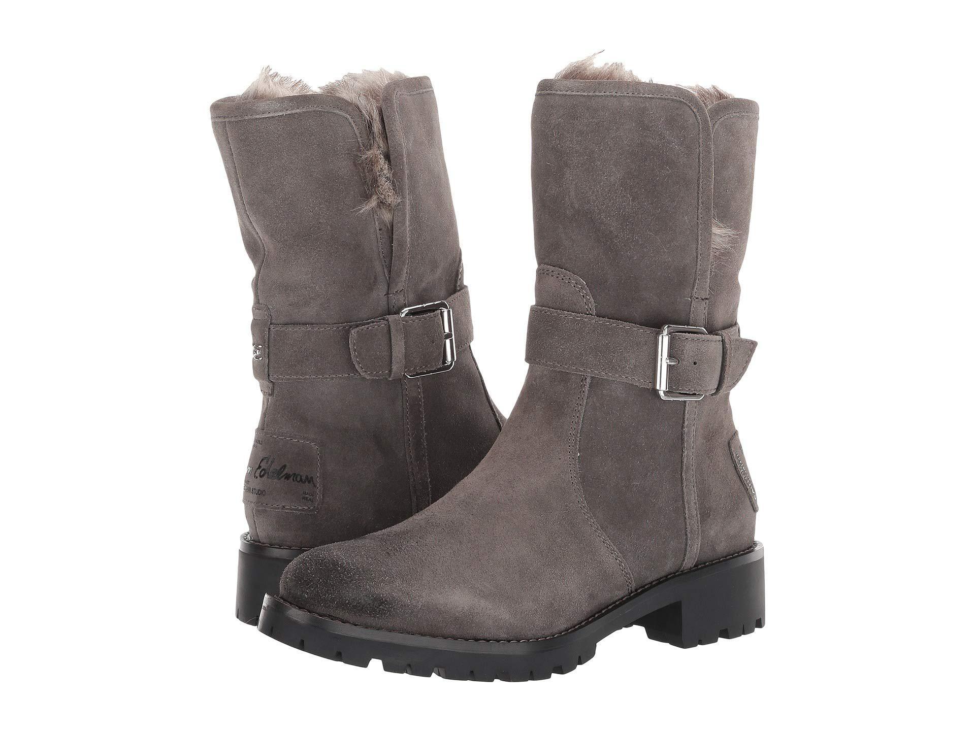 c55c3815a877 Sam Edelman. Gray Jeanie (black Suede Waterproof Velour Suede Leather) ...