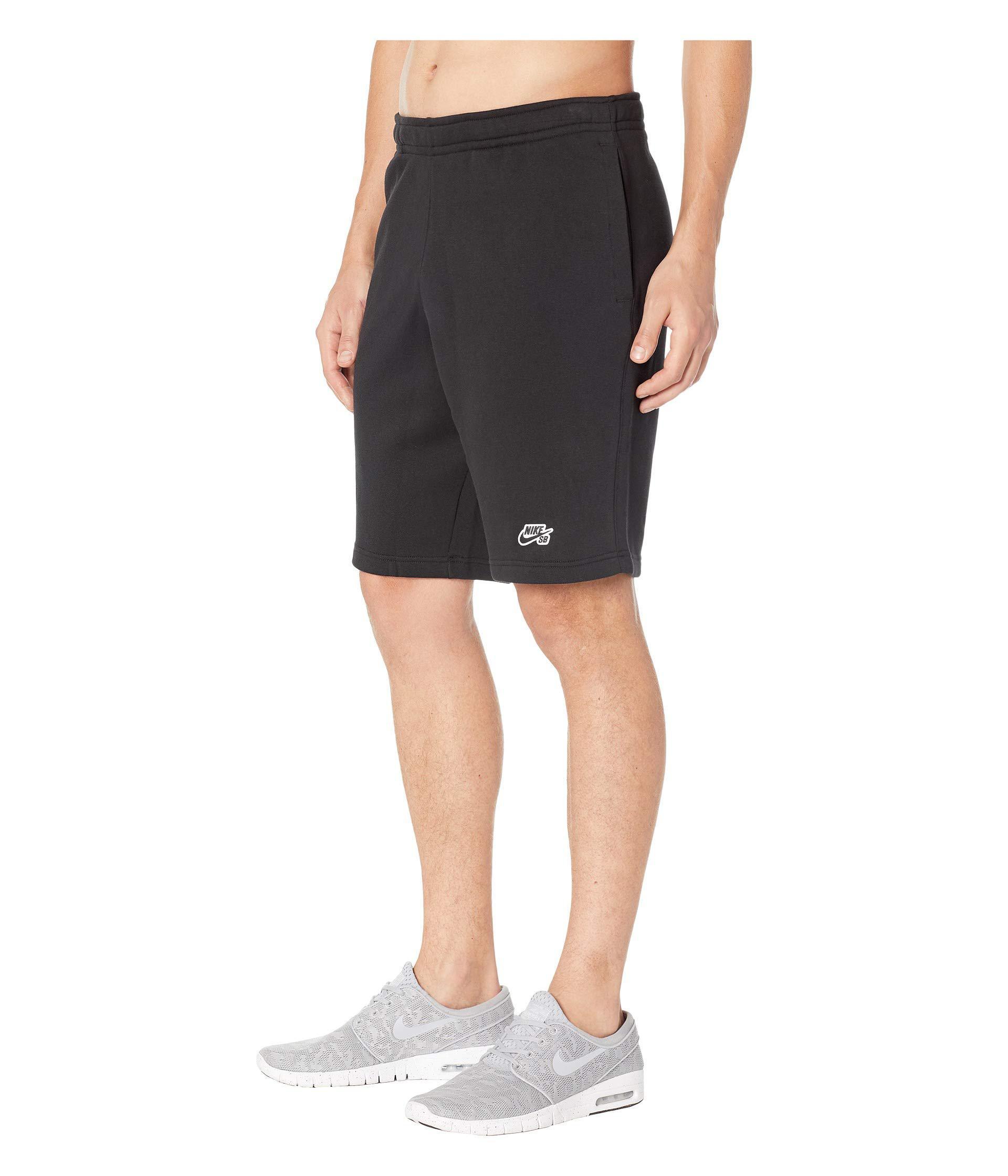 e84e3fdab49a Lyst - Nike Sb Icon Fleece Shorts in Black for Men