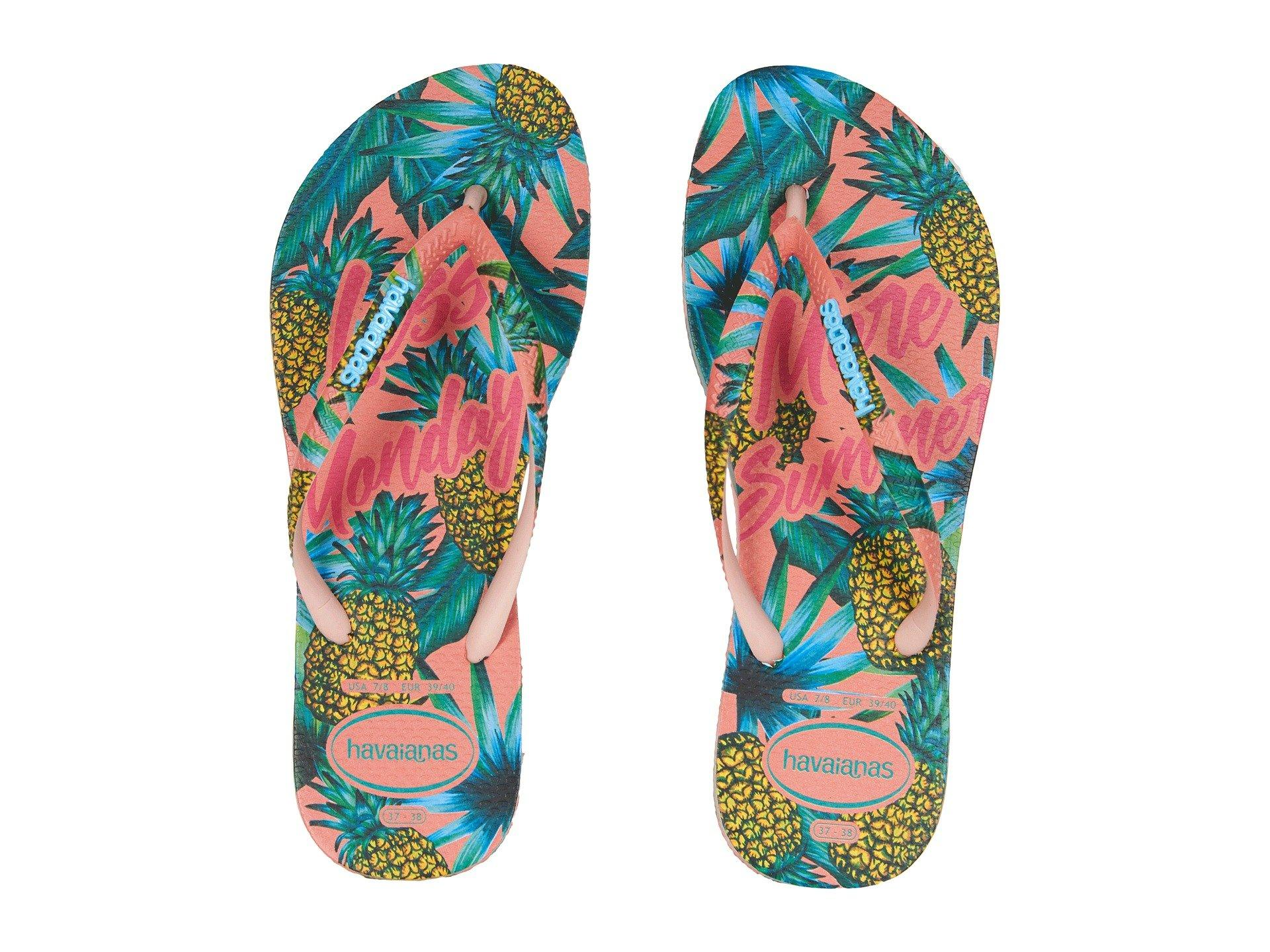 46d3c3a365 Havaianas - Multicolor Slim Paradiso Flip Flops (blue Splash) Women s  Sandals - Lyst. View fullscreen