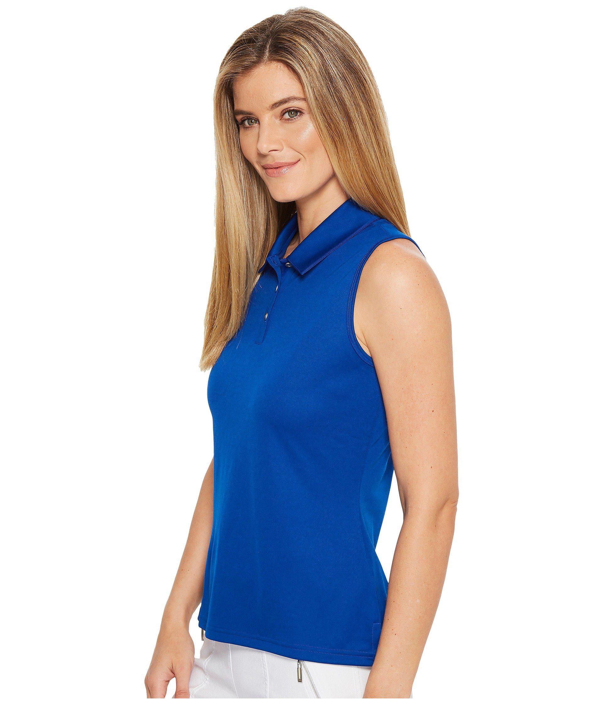 661dc3b6153be Lyst - adidas Originals Performance Sleeveless Polo (black) Women's  Sleeveless in Blue