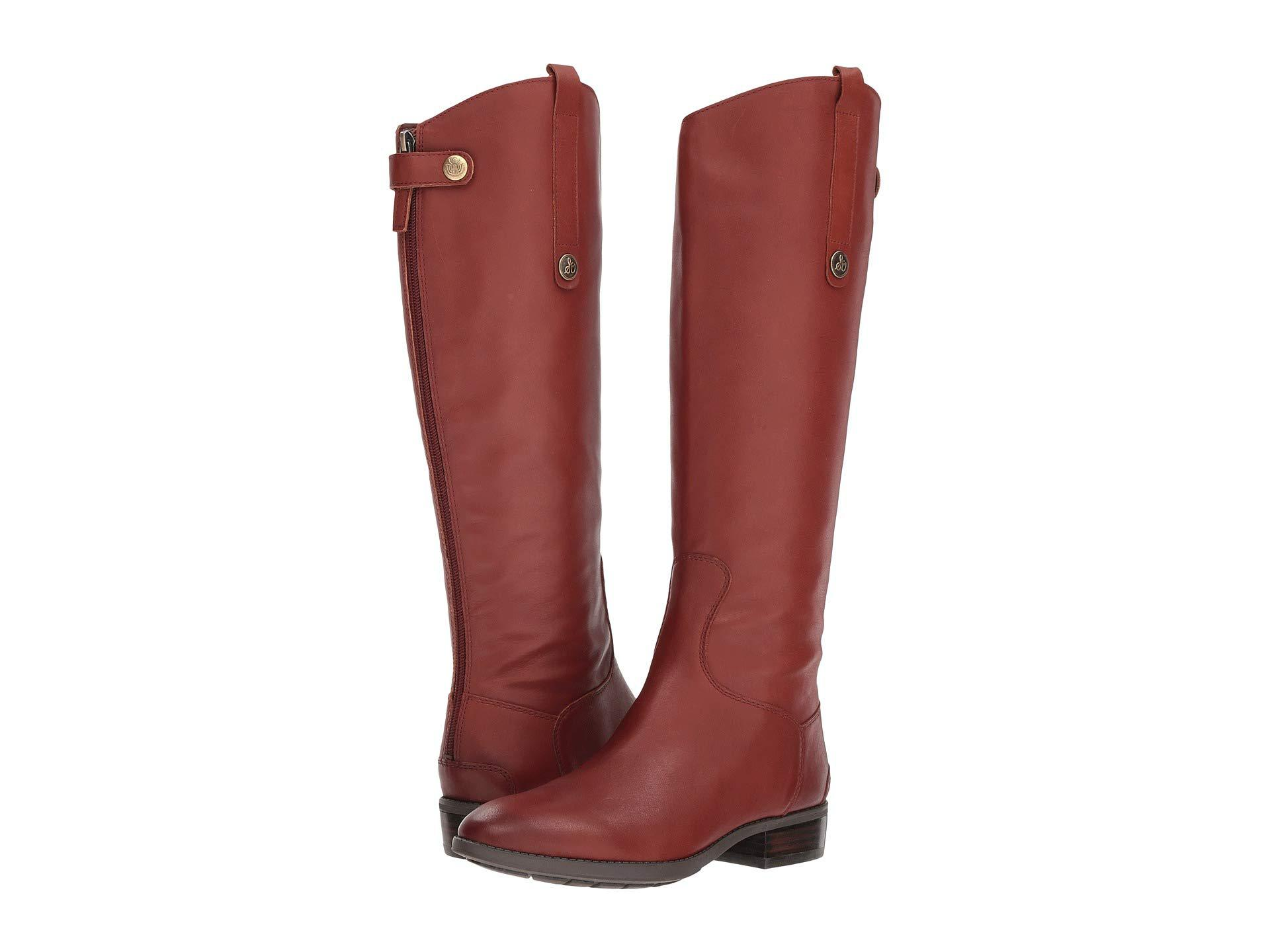 6ae7718bf Lyst - Sam Edelman Penny Leather Riding Boot (redwood Brown Basto ...
