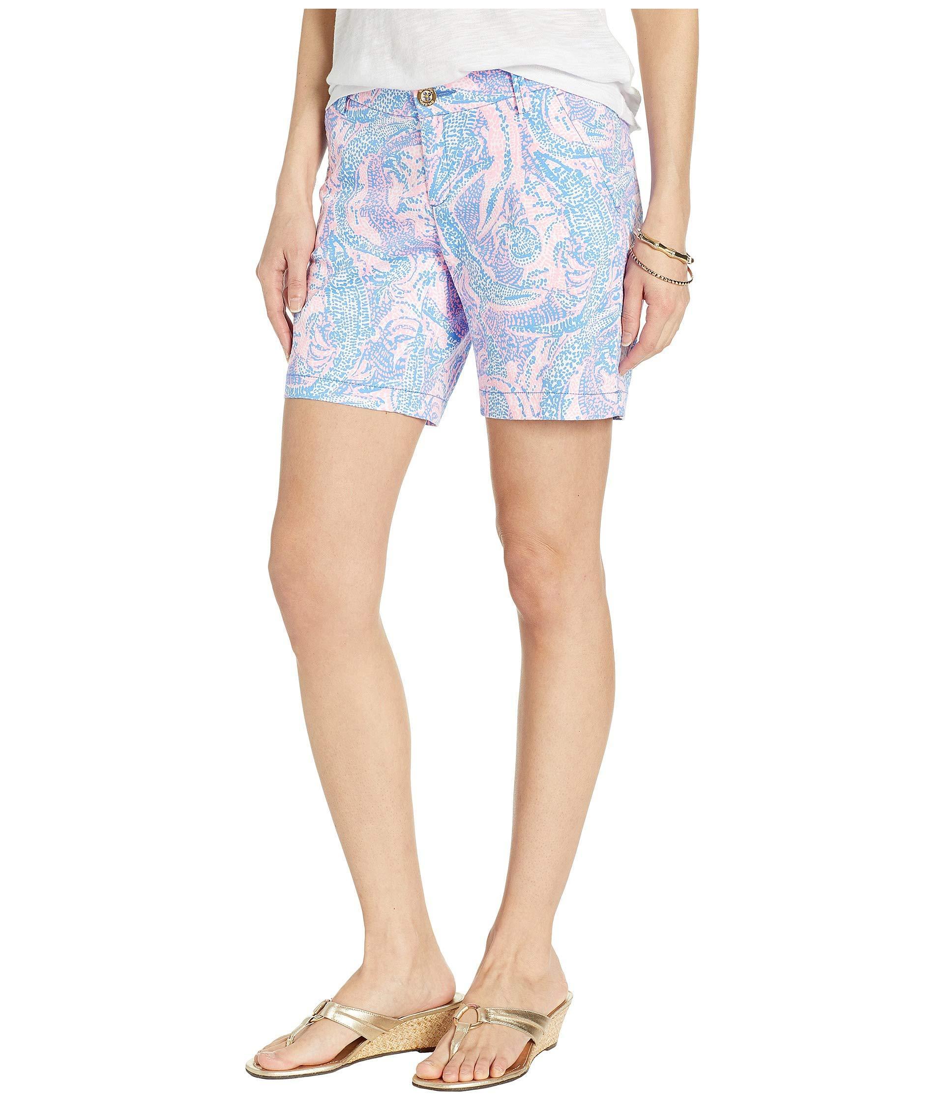 f5ff88230cf1f6 Lyst - Lilly Pulitzer Jayne Stretch Shorts (coastal Blue Maybe Gator)  Women's Shorts in Blue