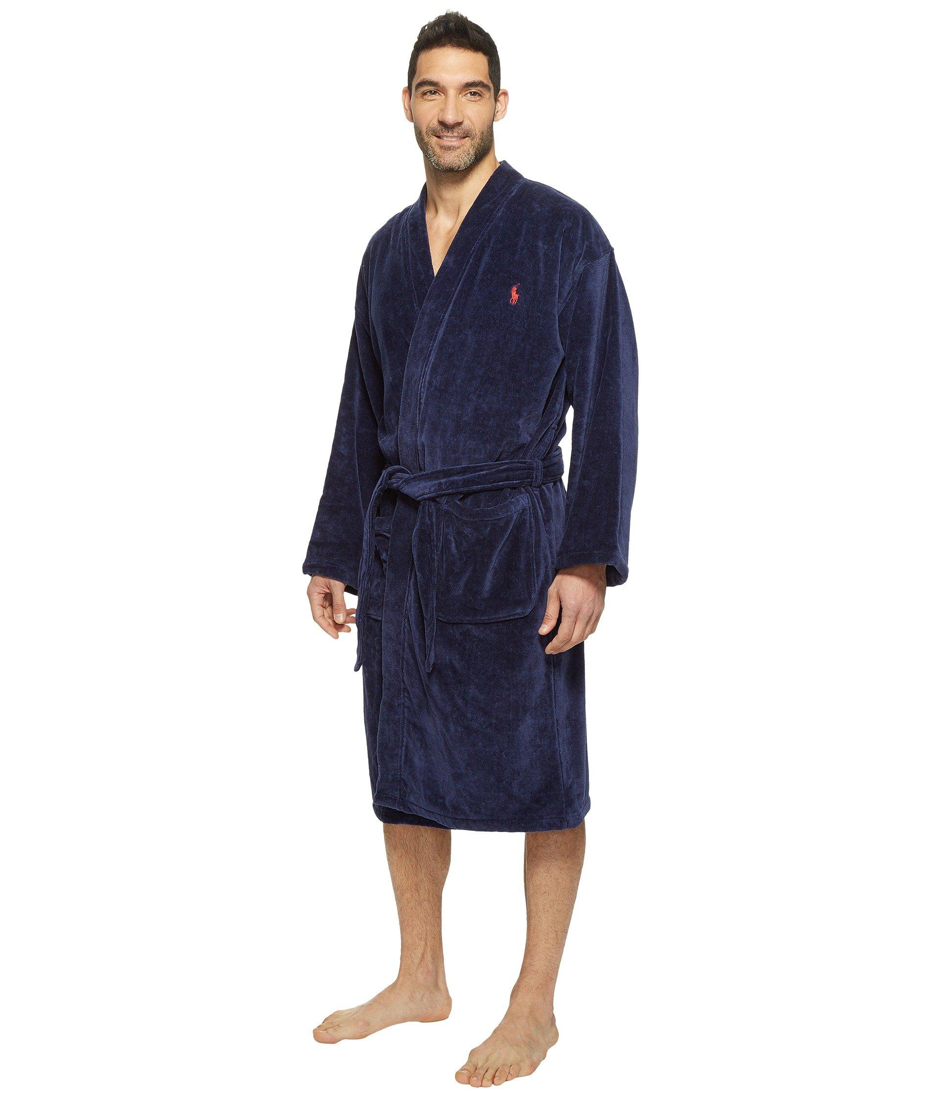Lyst - Polo Ralph Lauren Terry Shawl Robe (white) Men s Robe in Blue for Men e0ab8ef39