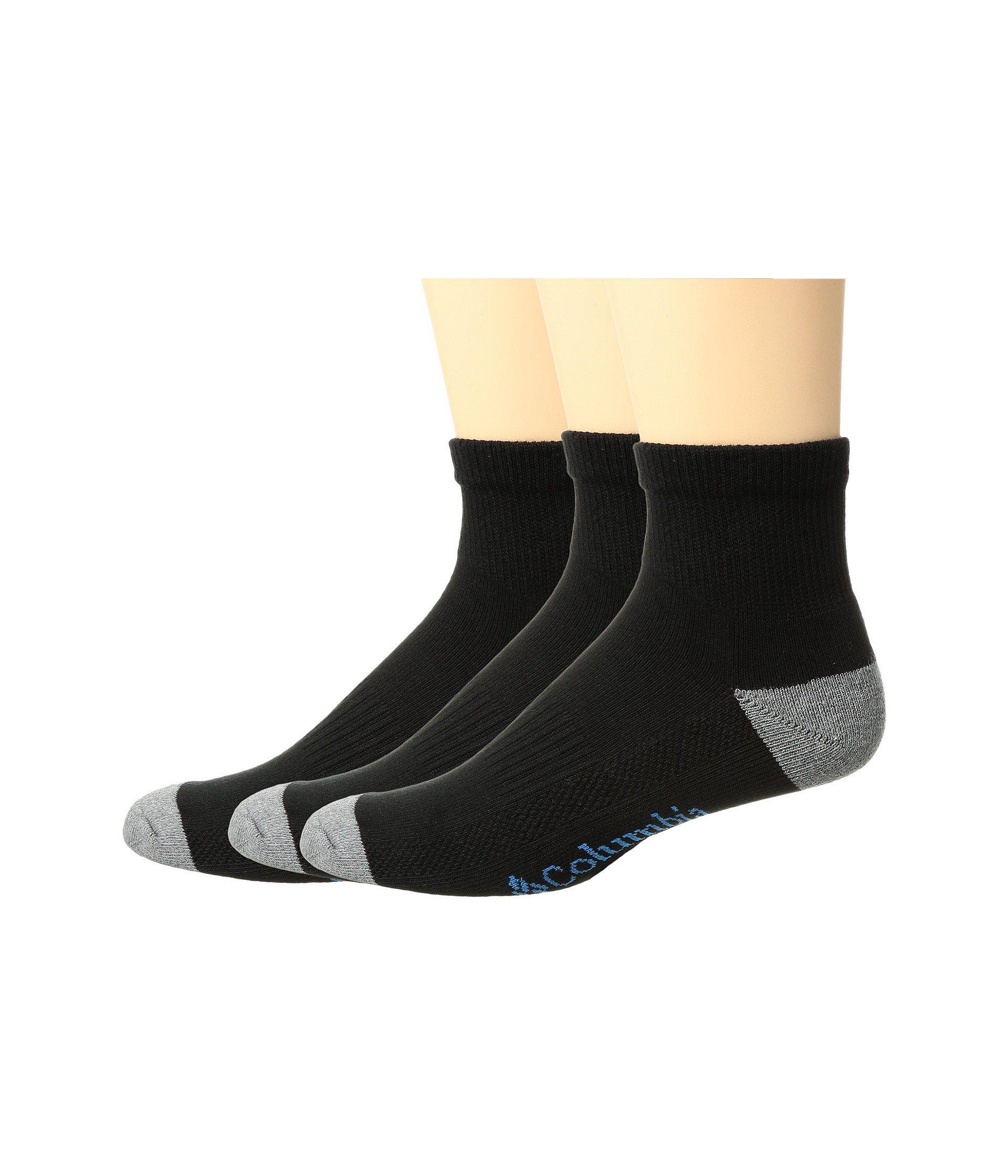 01ea931e9e6d6 Lyst - Columbia Quarter Athletic Socks 3-pack (white) Men's Quarter ...