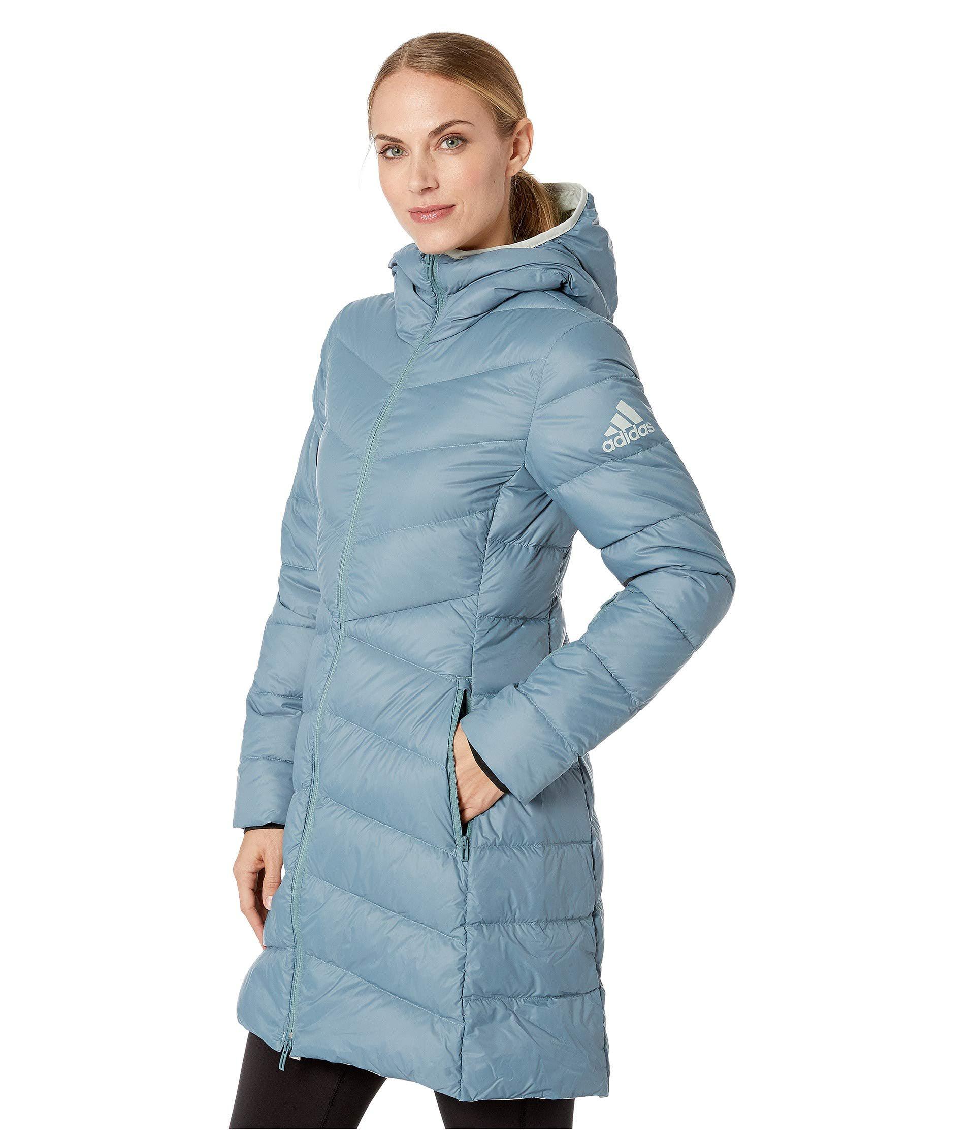 Lyst - Adidas Originals Climawarm(r) Hyperdry Nuvic Jacket (raw Green) Women s  Coat in Blue 24141b28fe