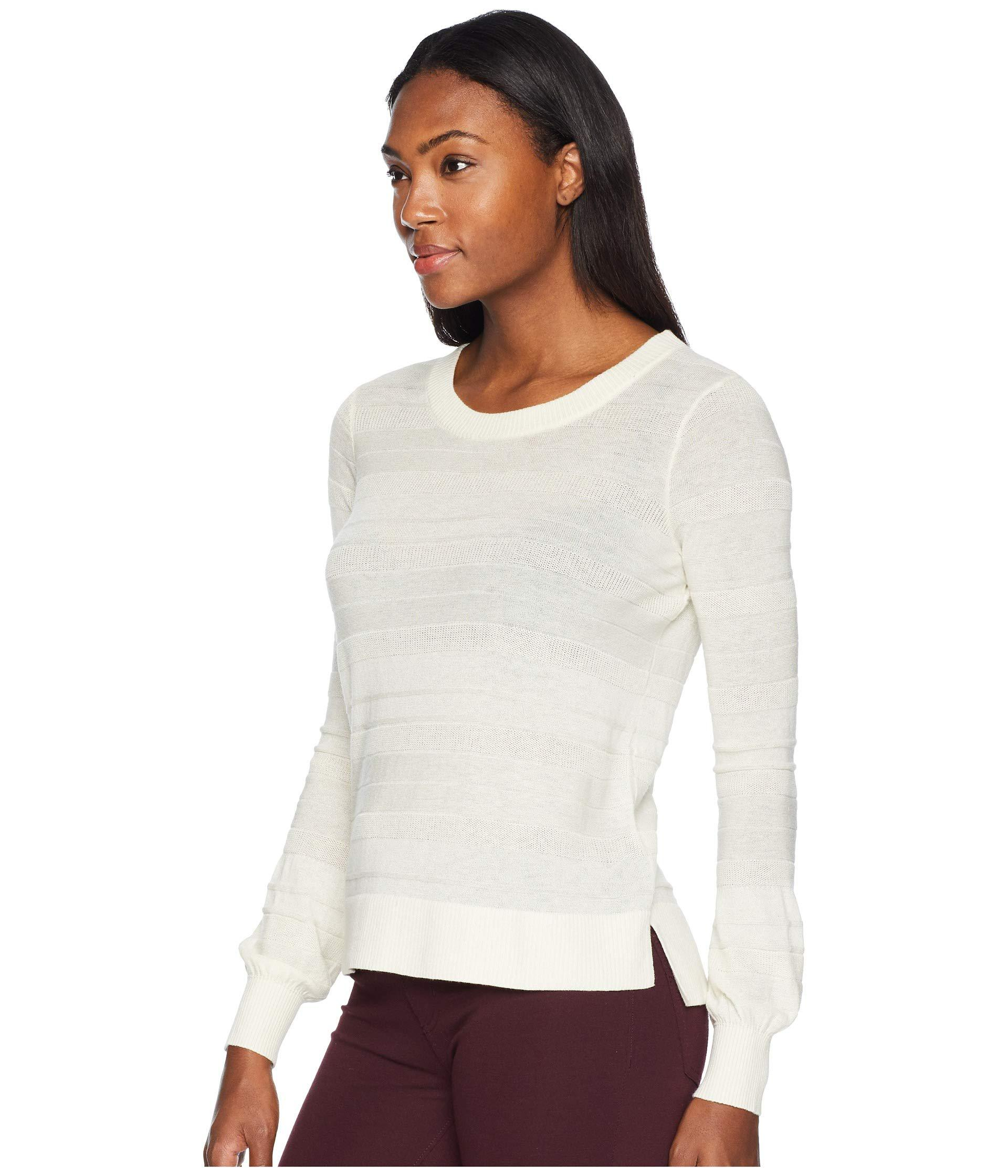 Lyst - Toad Co Cambria Crew Sweater (salt) Women s Sweater in White 76d8db874
