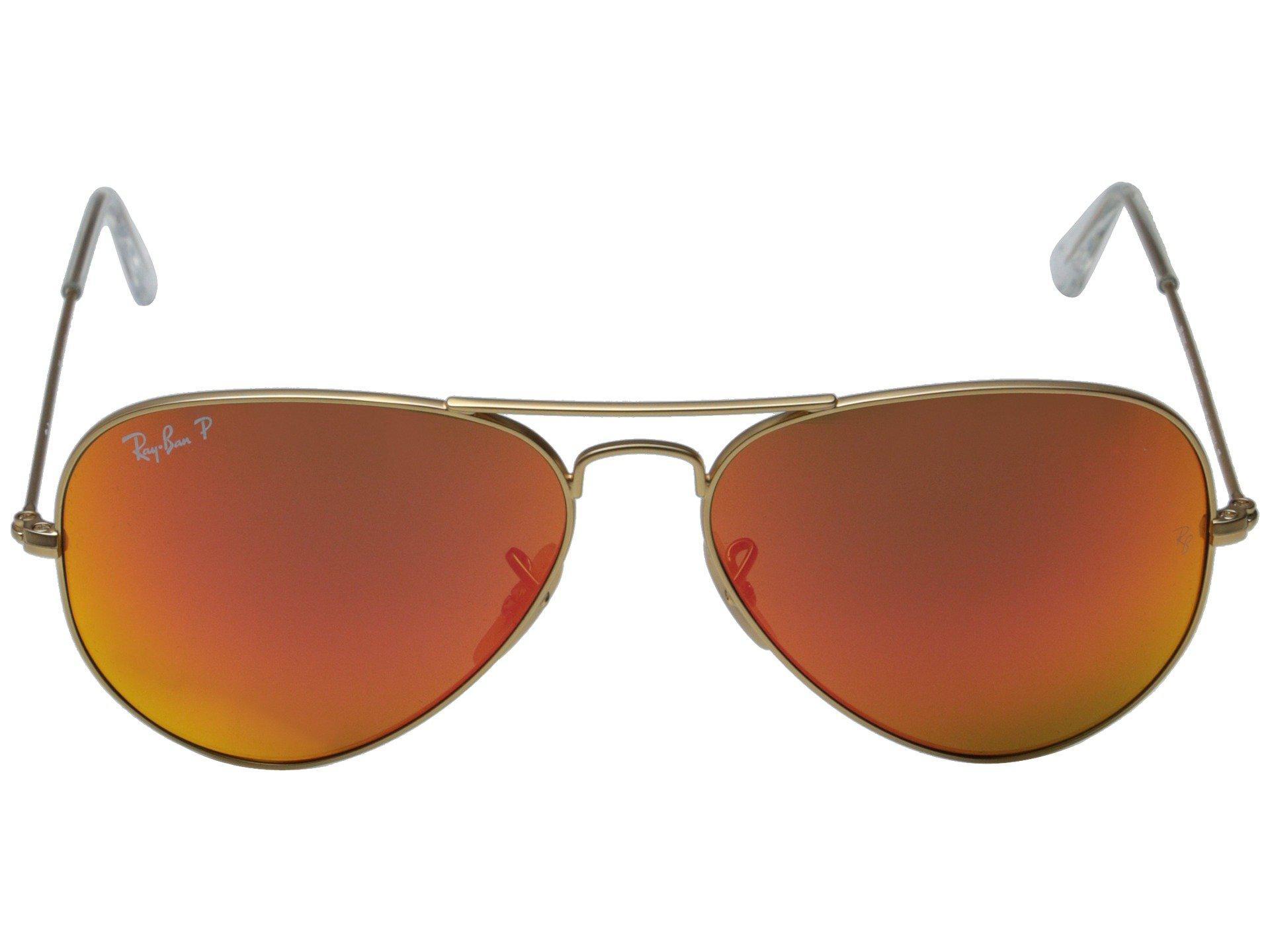 bba03f62825d Ray-Ban - Gray Rb3025 Aviator Polarized Flash Lenses 58mm (matte Gold orange.  View fullscreen